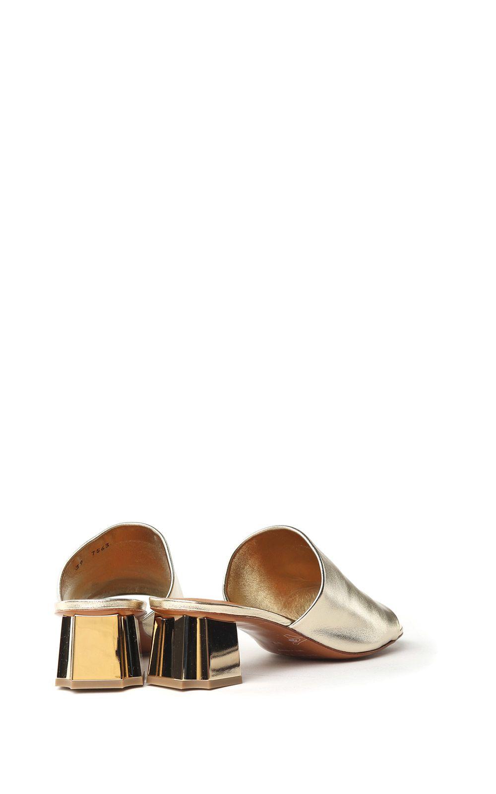 Lamo laminated-leather mules Robert Clergerie wCp0U8ju9F