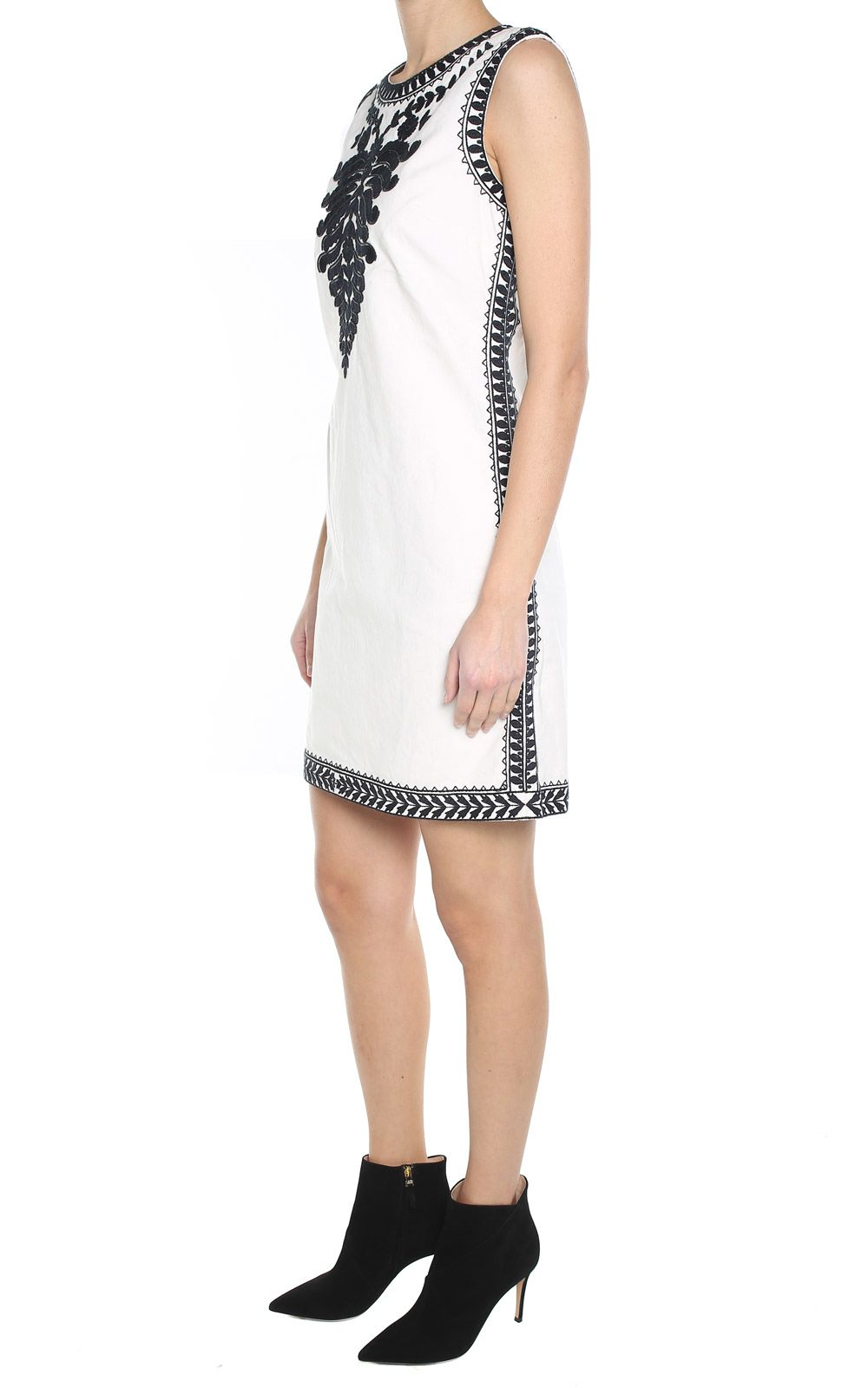 Camille embroidered cotton-canvas dress Tory Burch Outlet Where To Buy Cheap Footlocker Pictures 2VlCOkpldY