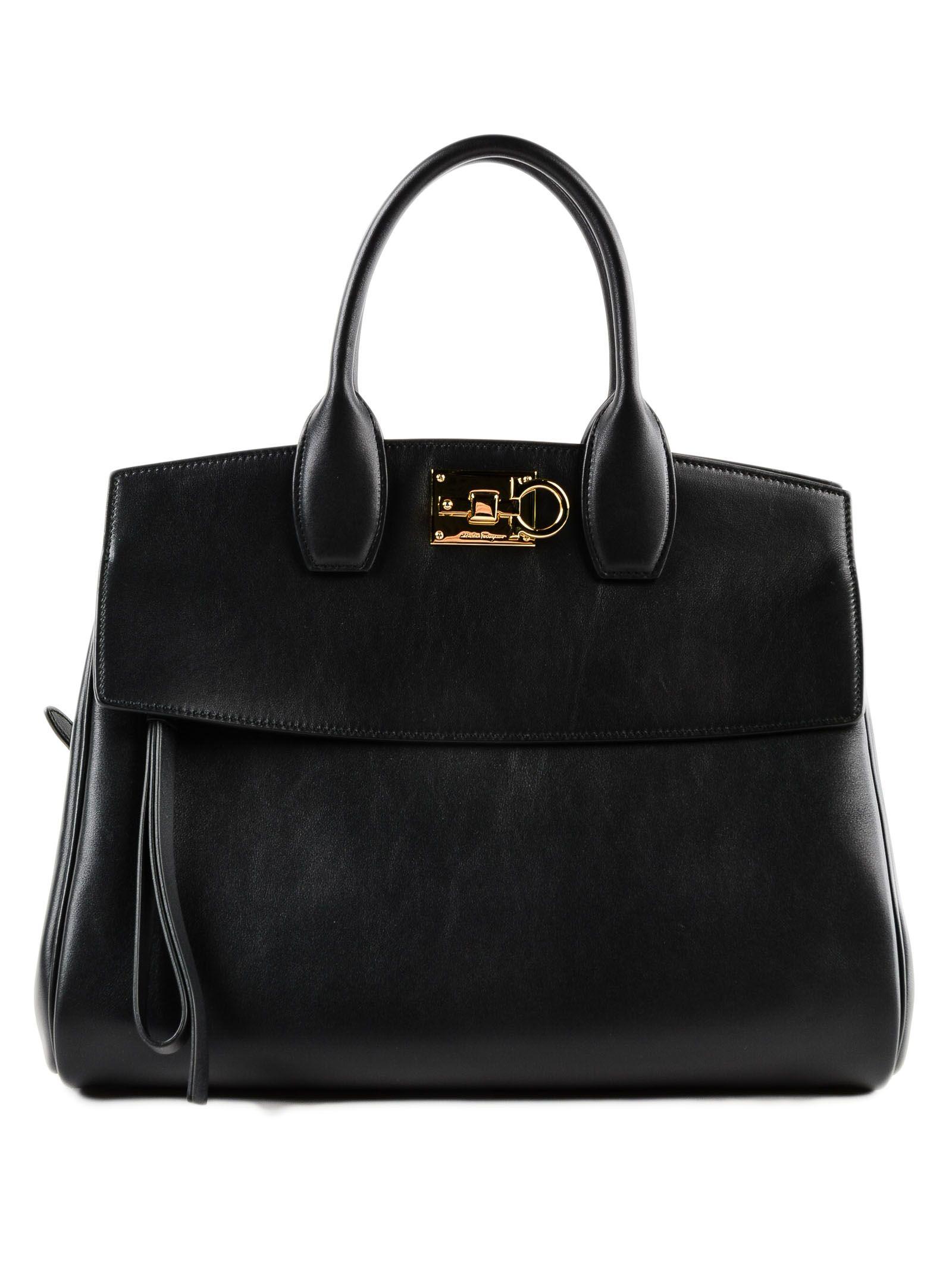 ... Salvatore Ferragamo Medium The Studio Leather Top Handle Bag In Black  innovative design 4dd76 61f67 ... 77c96ae75650d