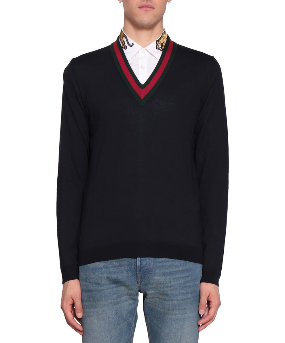 Gucci Web Wool Sweater
