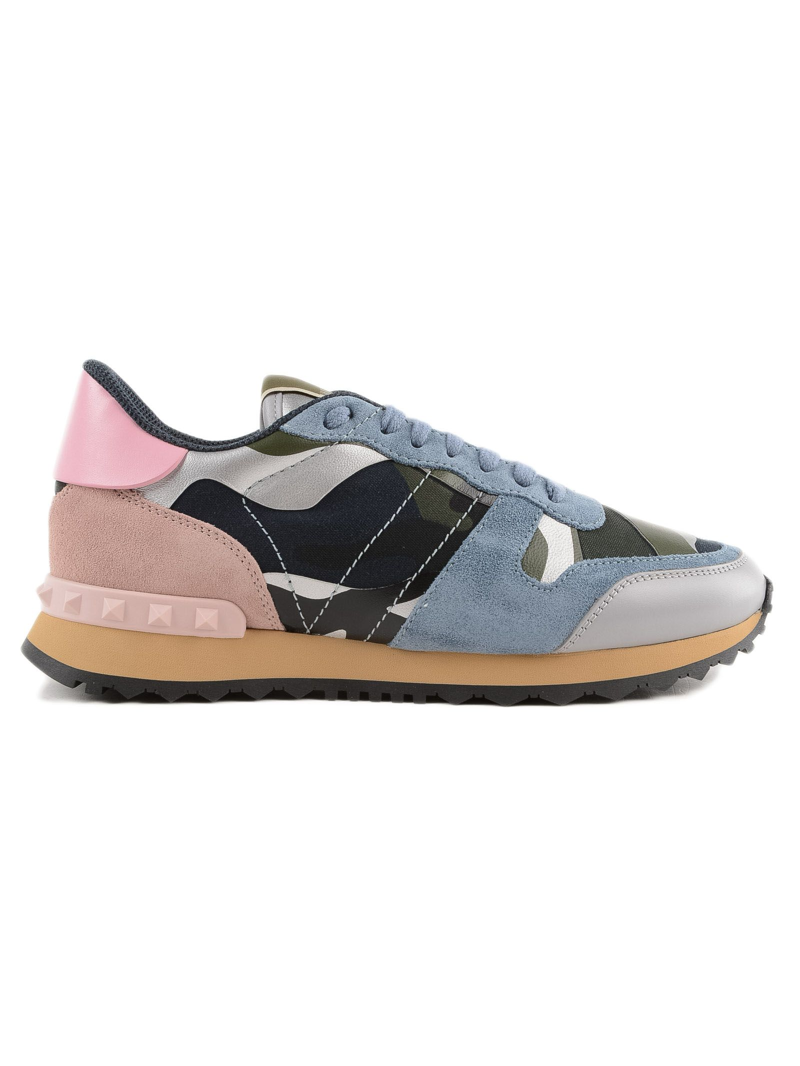 Camouflage Sneakers, 0Pa Marine/Silver