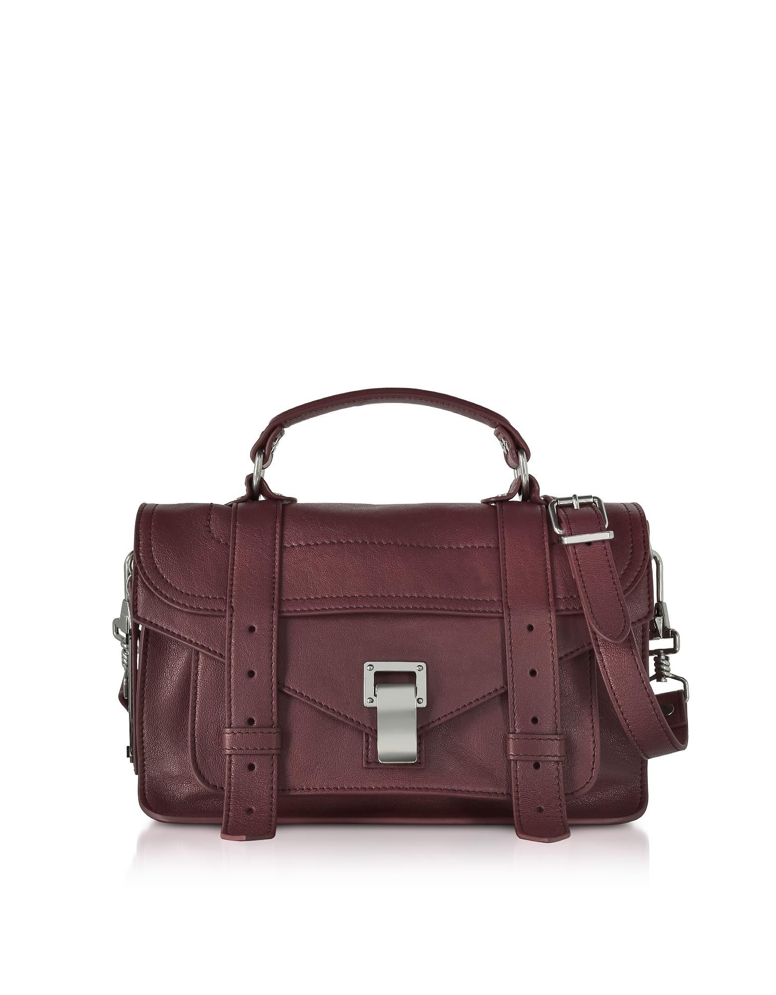 Proenza Schouler Ps1 Tiny Cordovan Lux Leather Satchel Bag In Bordeaux 536c9a6627