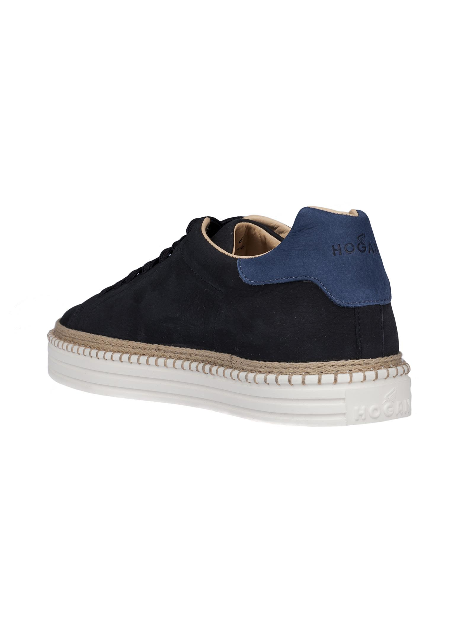 stitched sole sneakers - Blue Hogan