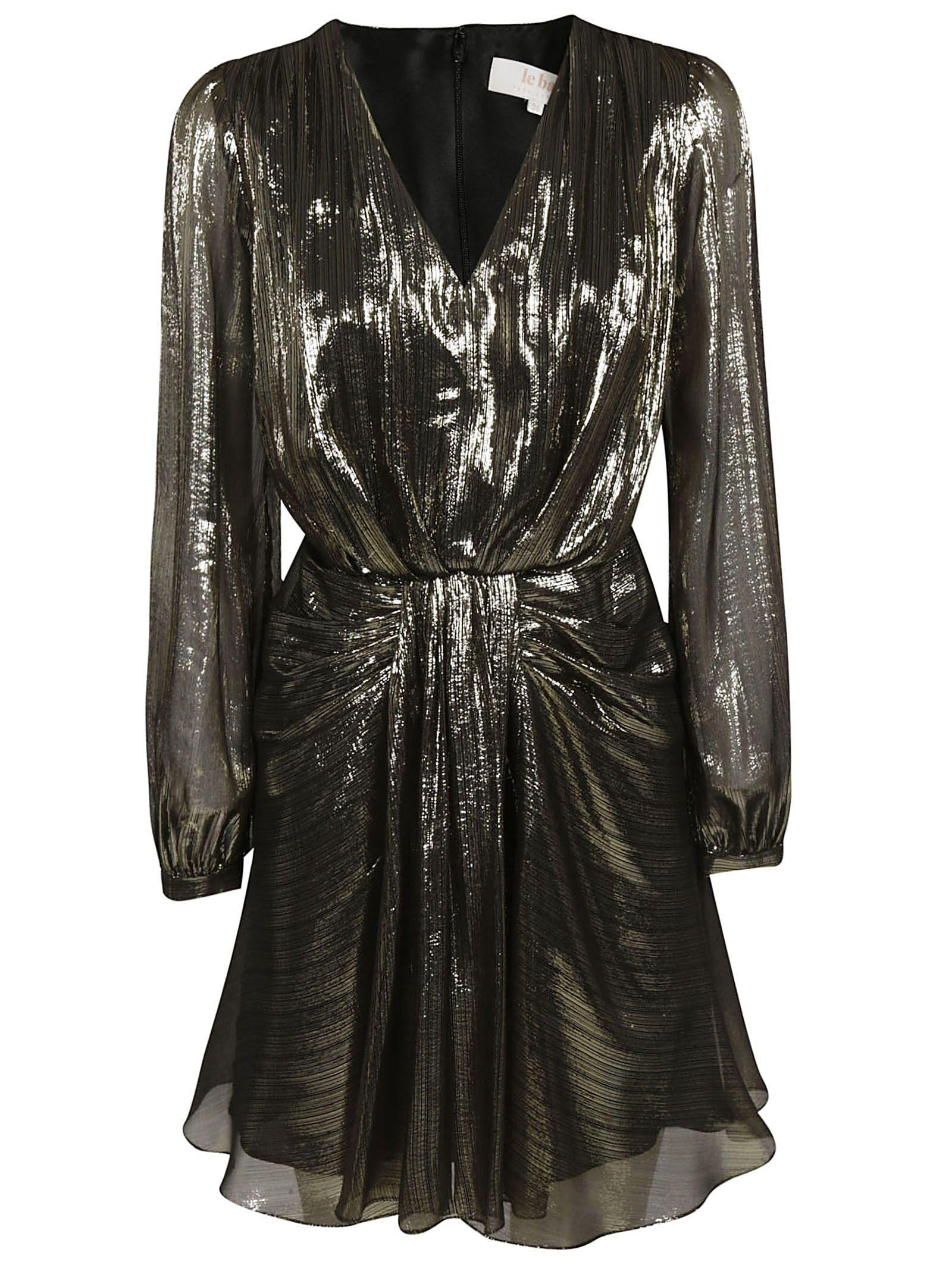 TARA JARMON V-Neck Dress in Noir
