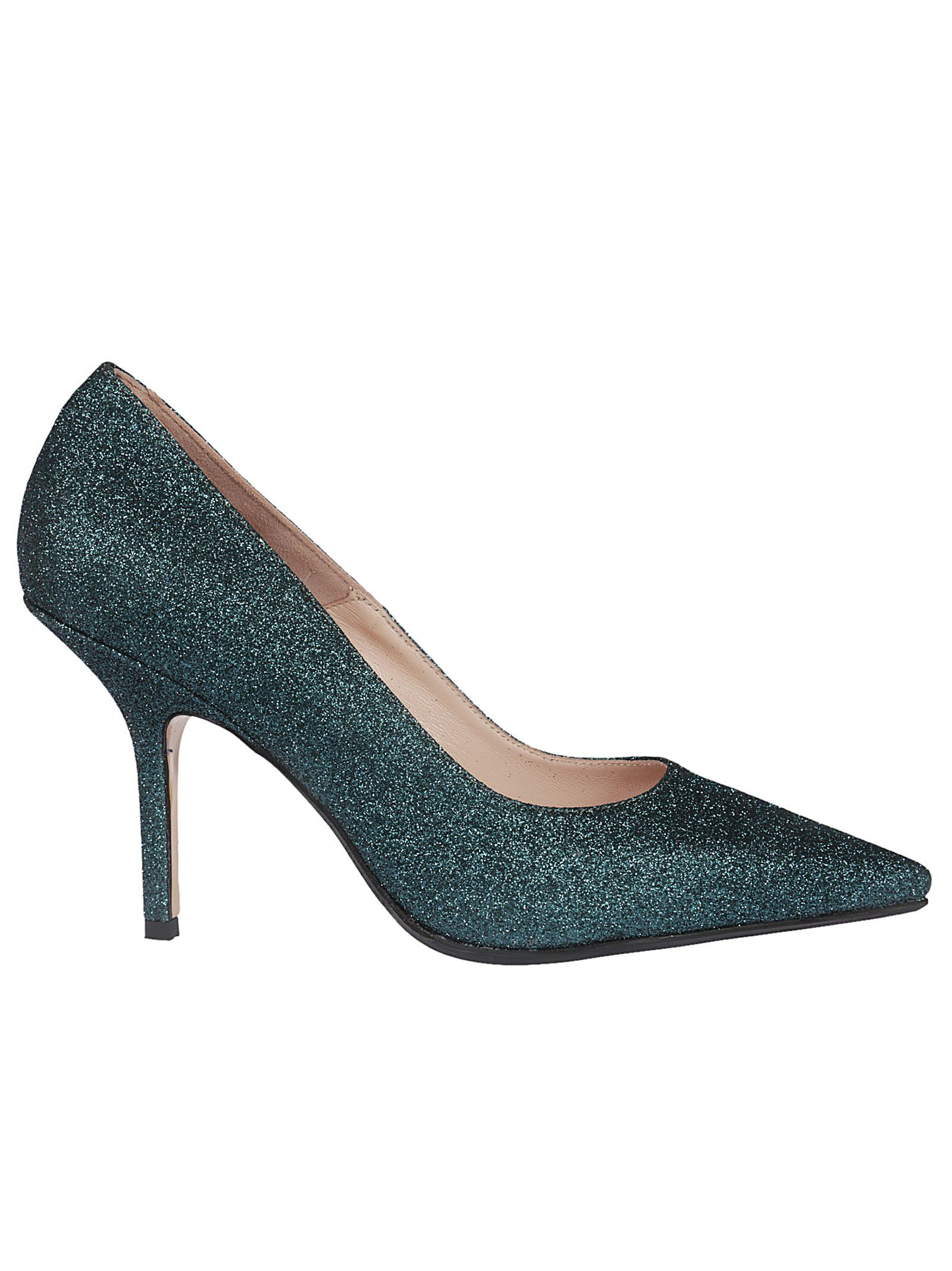 Anna F. GLITTERED PUMPS