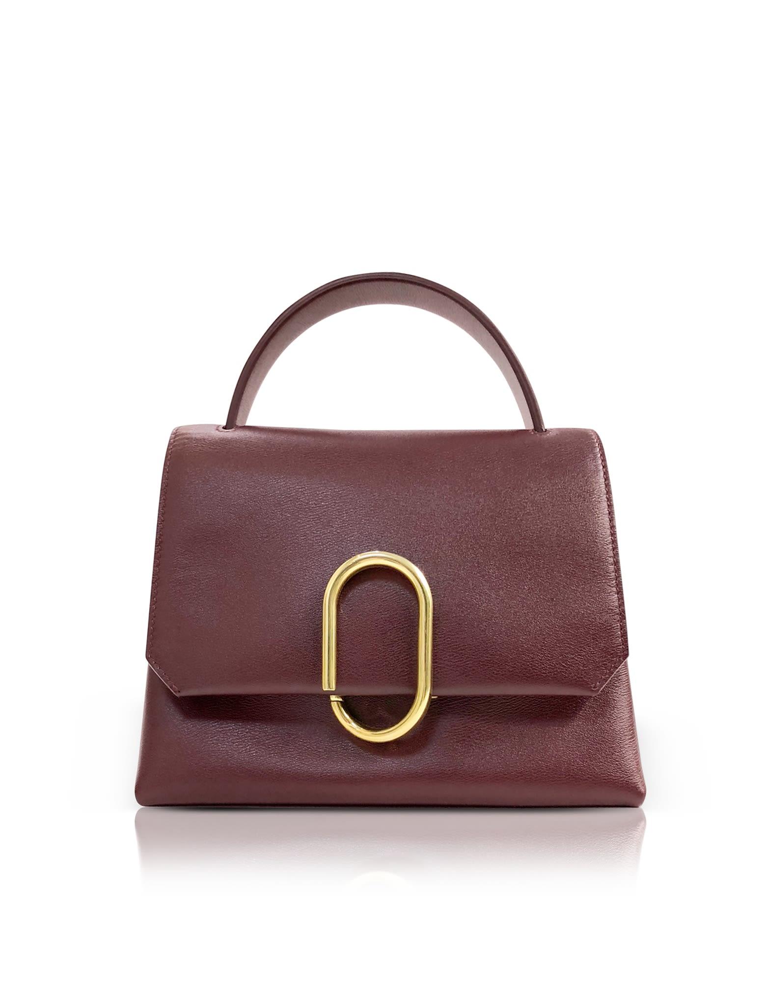 Bordeaux Alix Mini Top Handle Satchel Bag in Red
