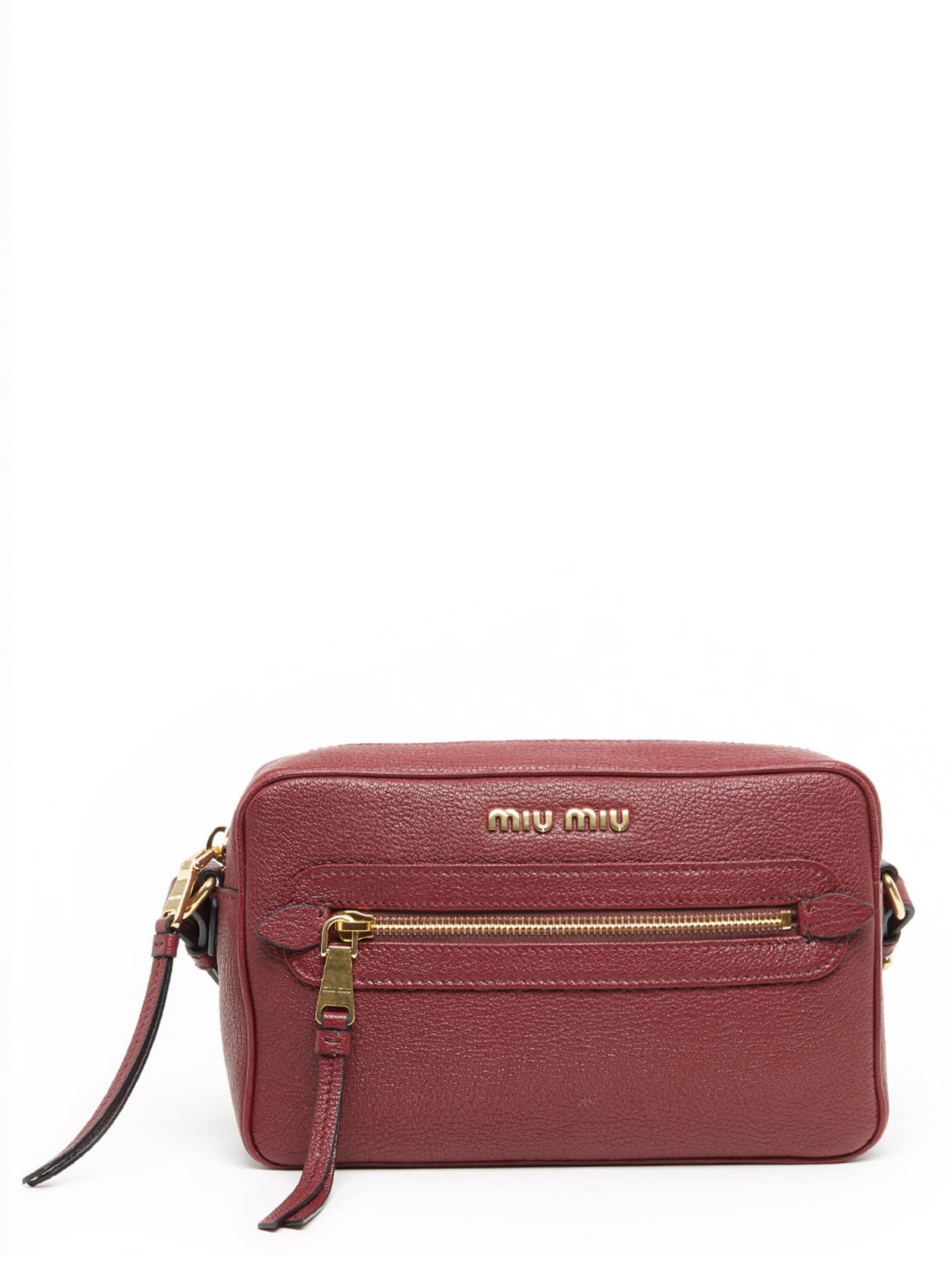 8b353c5cffa Miu Miu  Camera Bag  Bag In Burgundy