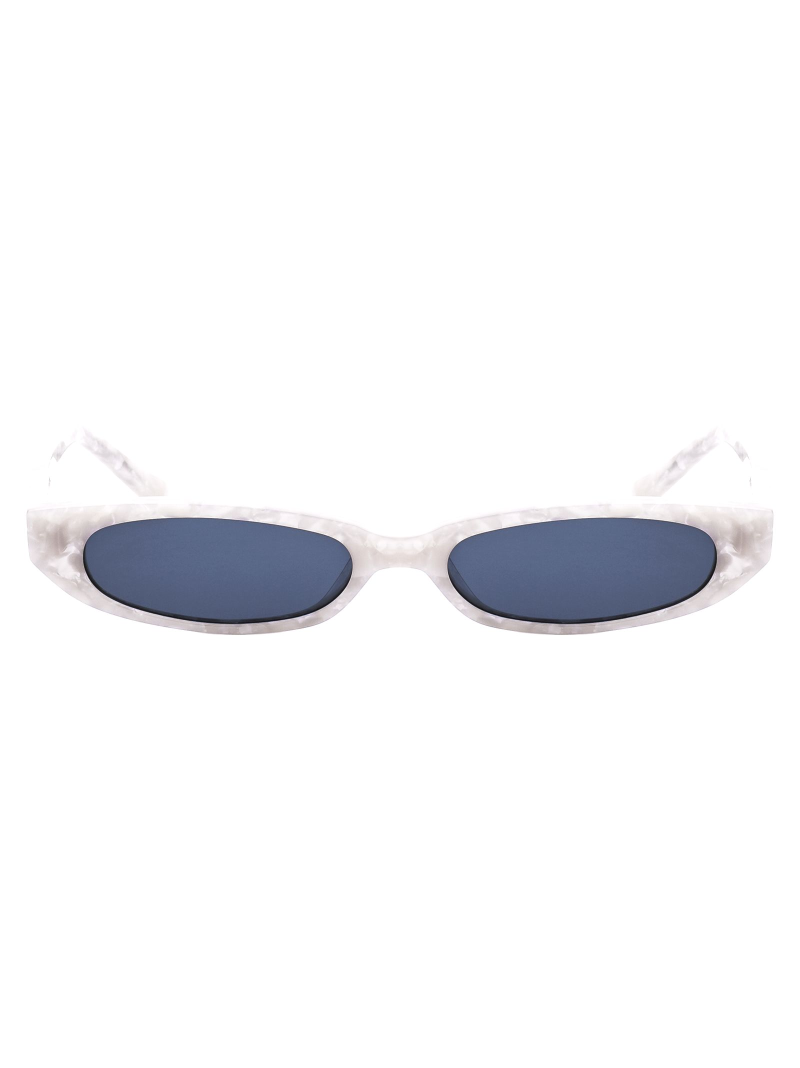 ROBERI & FRAUD Frances Sunglasses in White