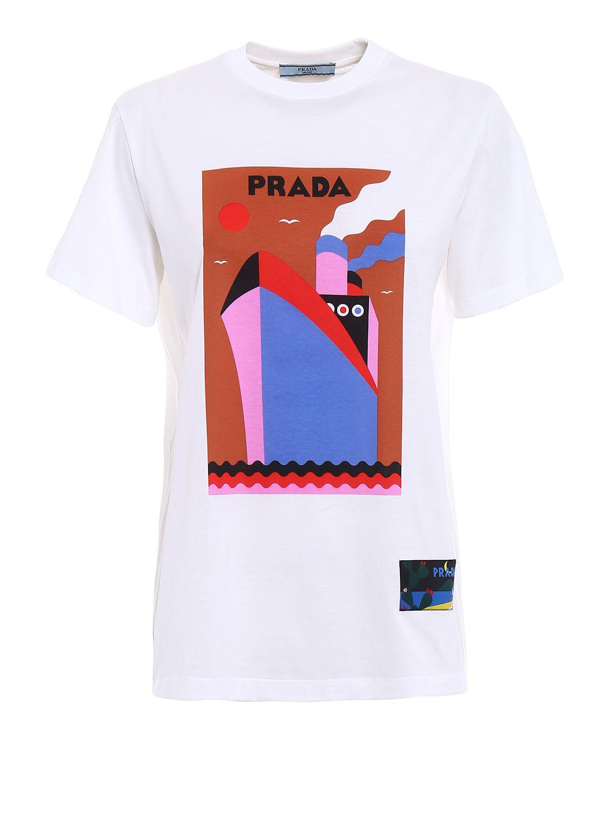 Prada Jwp Boat S-s T-shirt 10533678