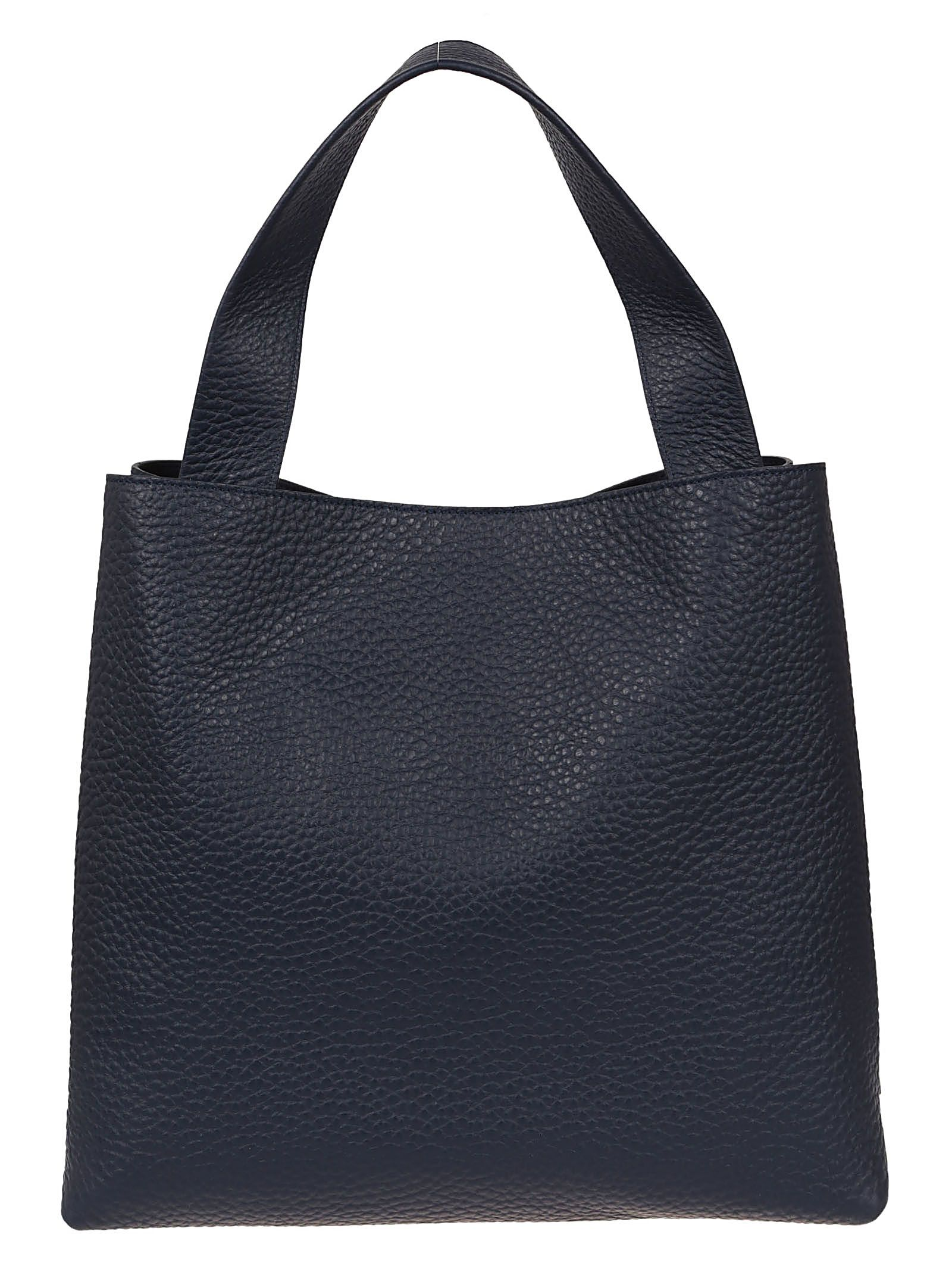 Tote Bag, Blue, Leather, 2017, one size Orciani