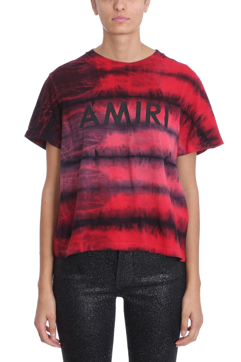 Amiri RED COTTON T-SHIRT
