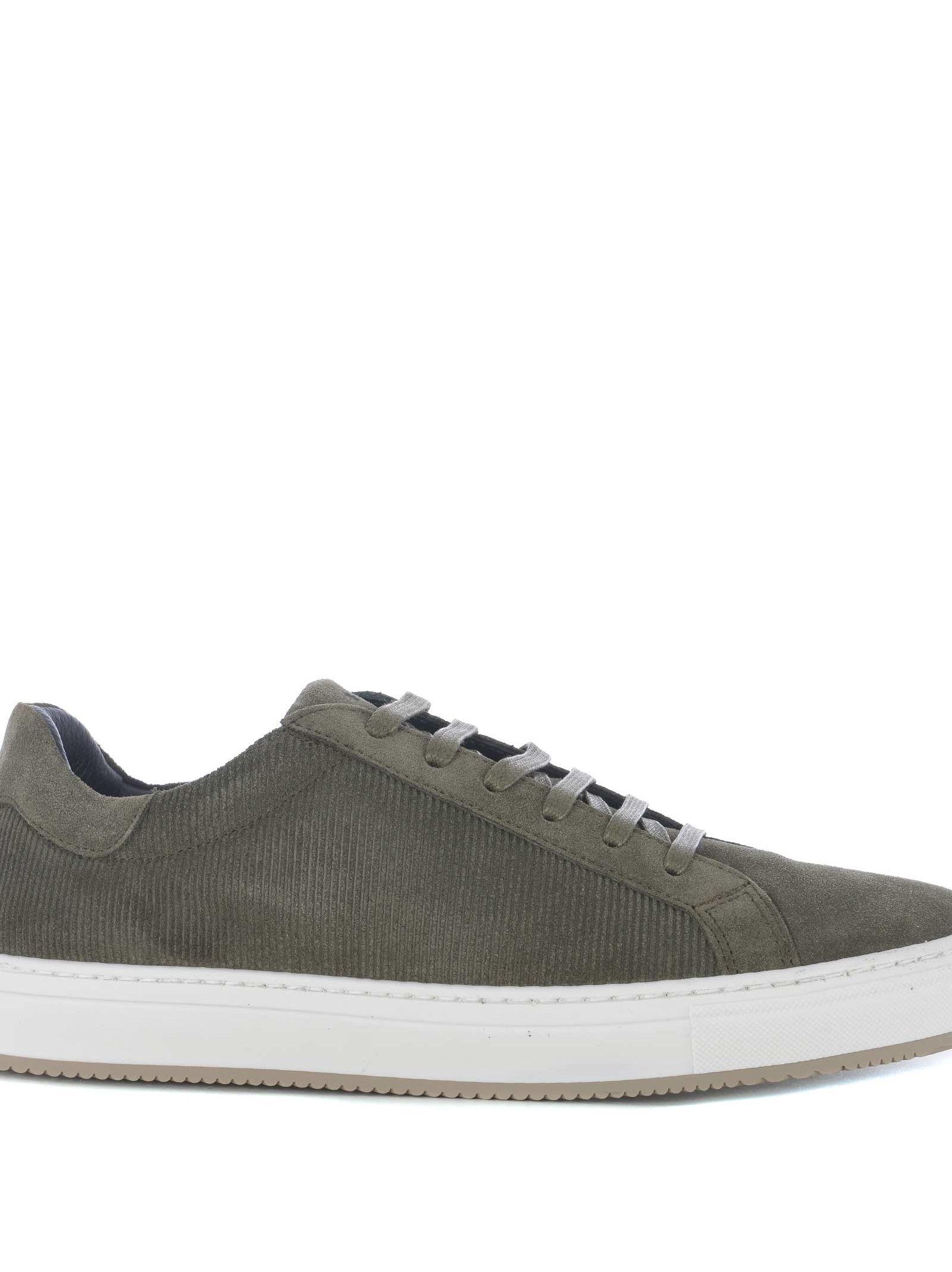 ANDREA ZORI Classic Sneakers in Verde Militare