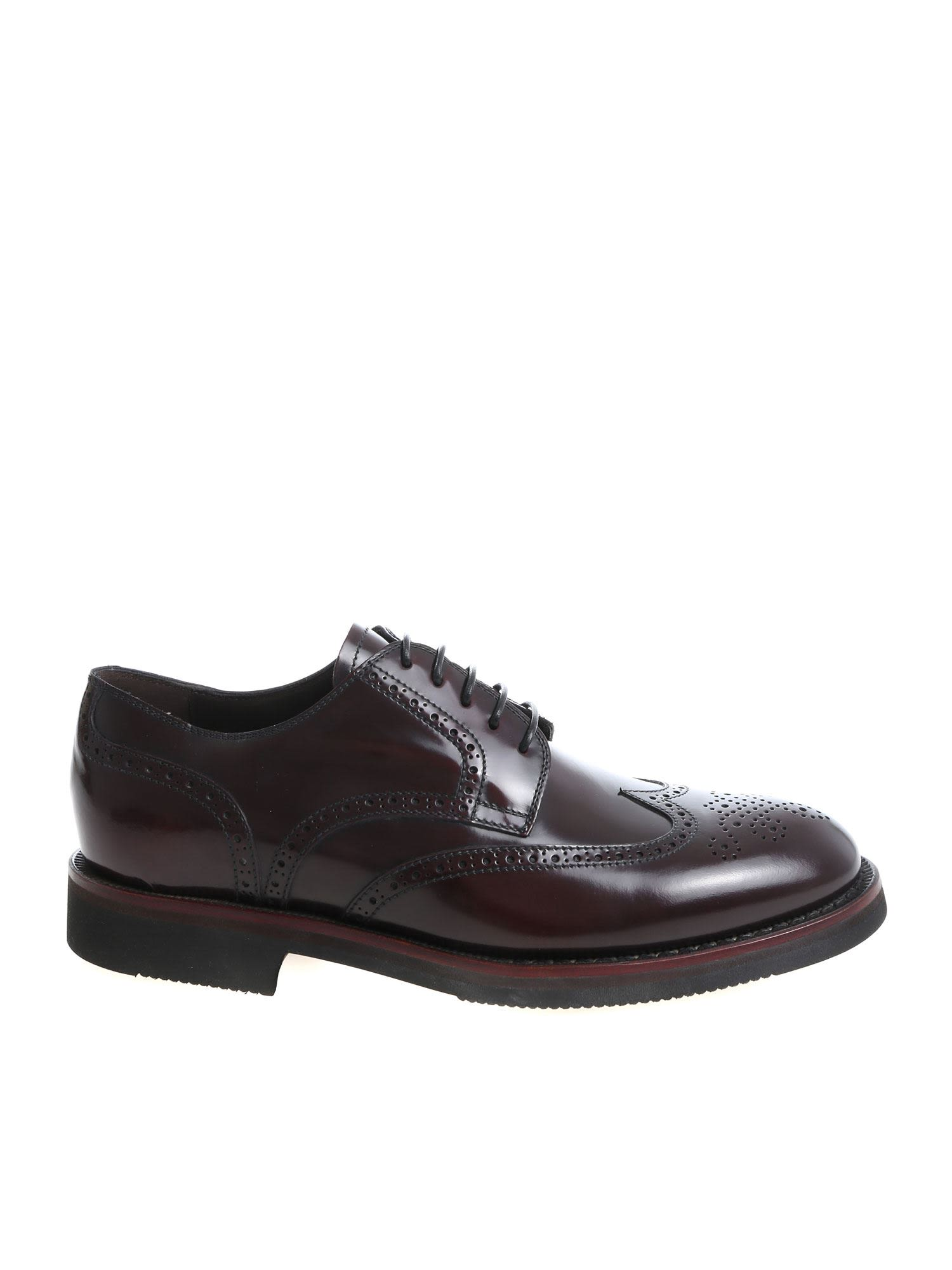 BLU BARRETT Perforated Derby Shoes in Bordeaux
