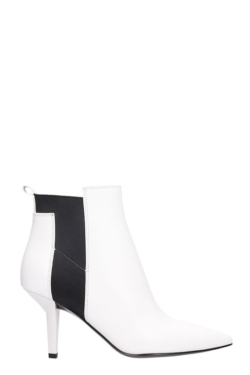 kendall + kylie -  White Leather Ankle Boots