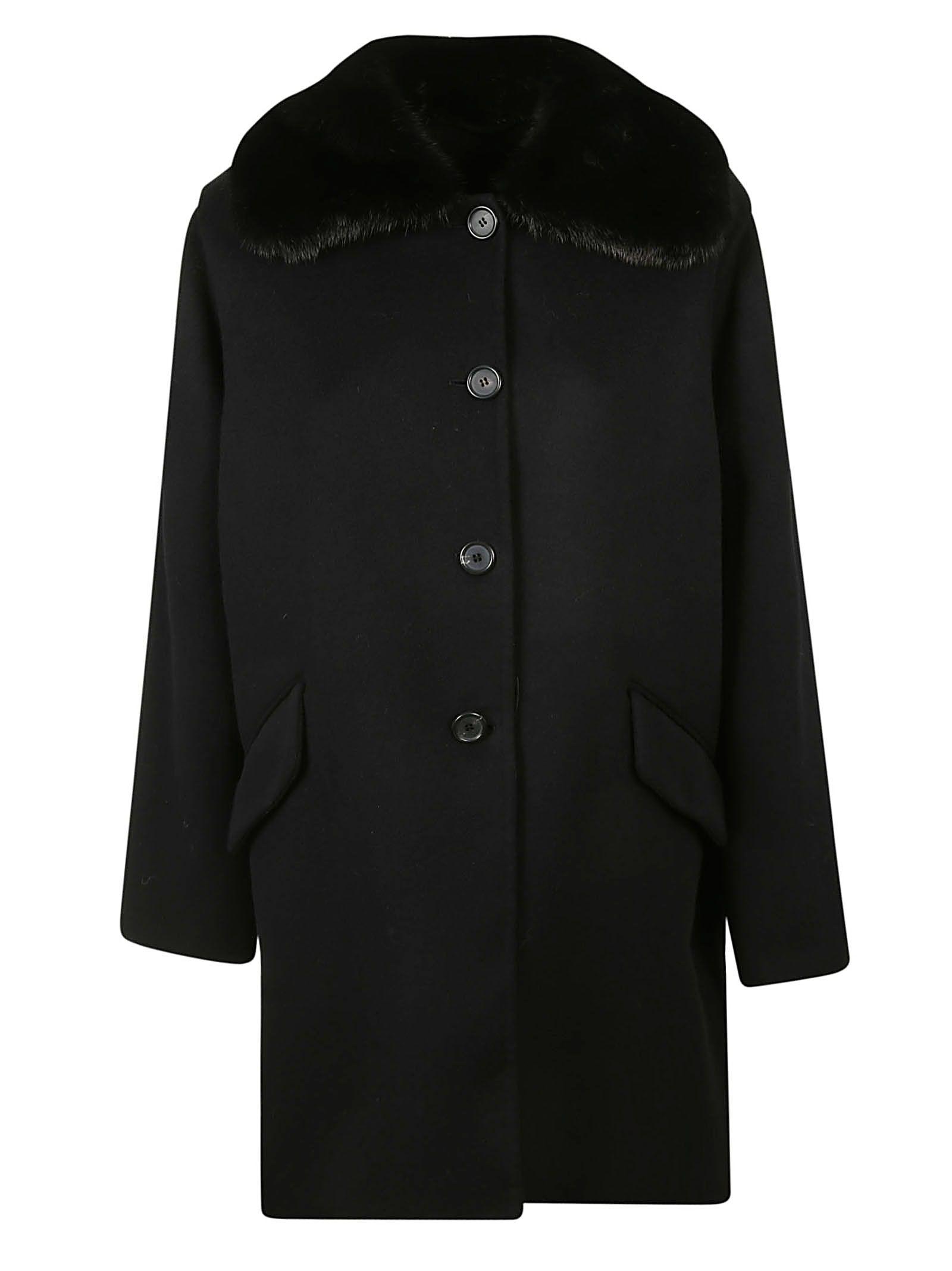 Ermanno Scervino Fur Collar Coat
