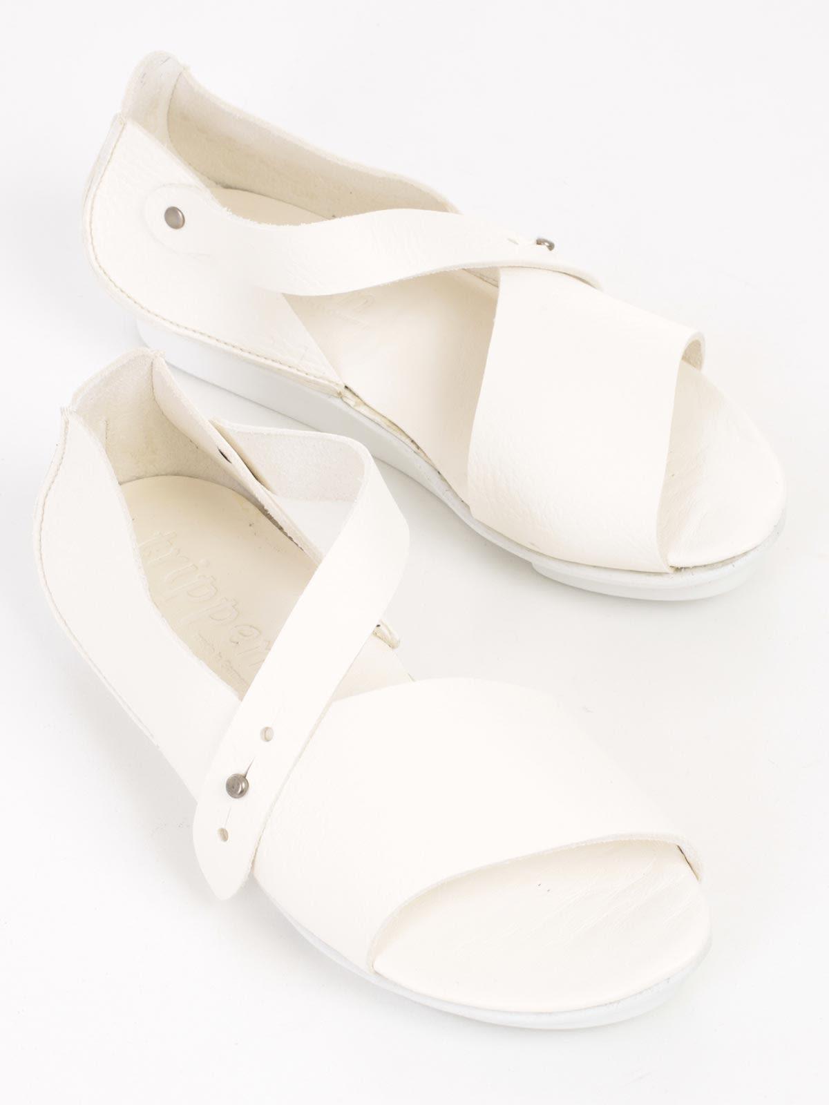 Trippen Sandales À Bout Ouvert - Blanc UwUUUUbv