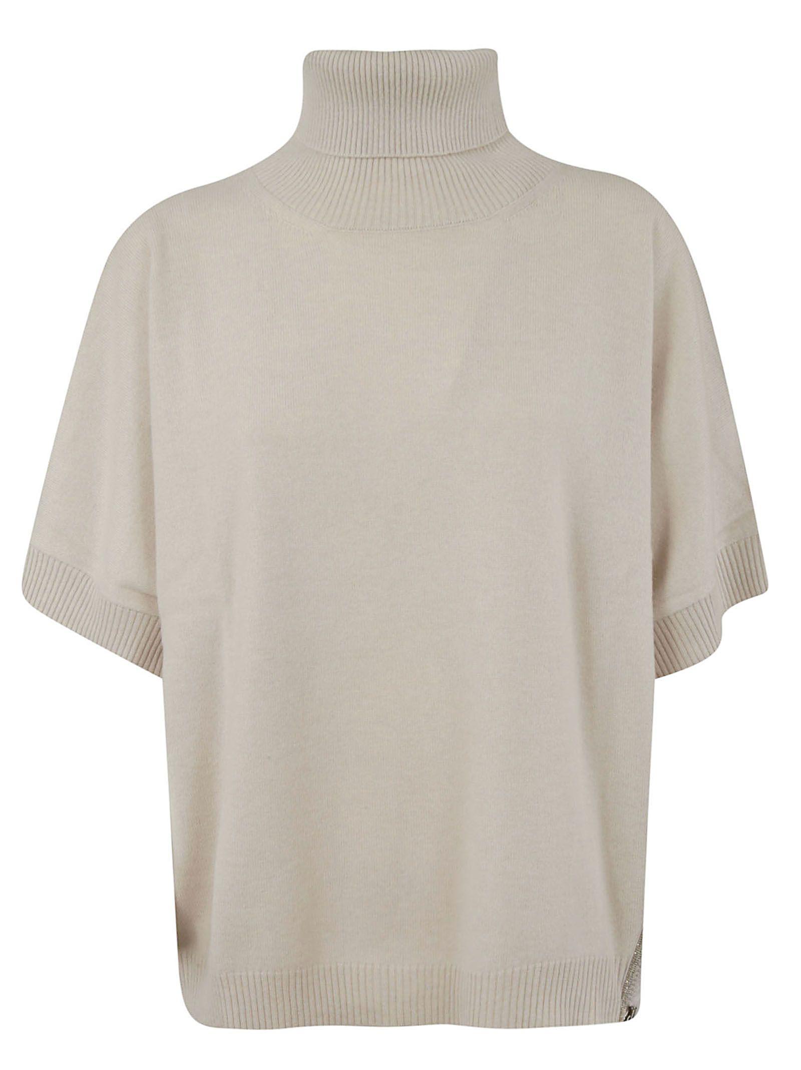 Fabiana Filippi Roll Neck Short Sleeve Jumper  e05766a52