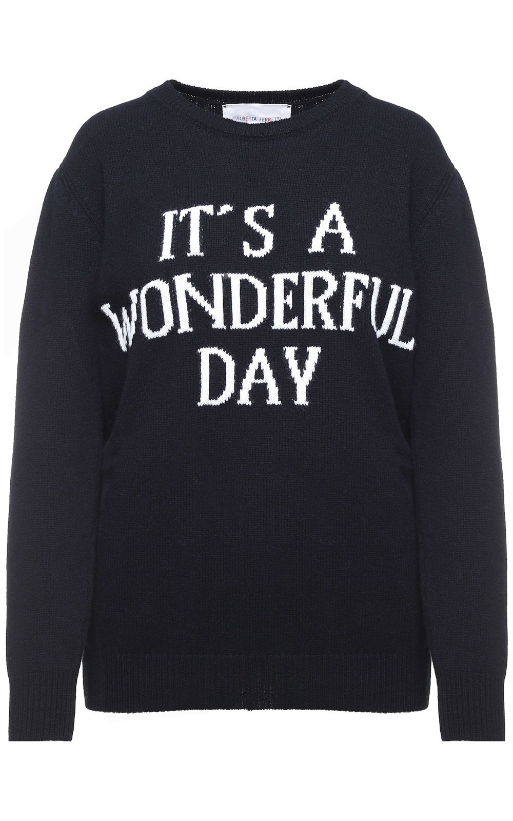Its A Wonderful Day-intarsia cashmere and wool blend oversized jumper Alberta Ferretti Discount Supply Purchase For Sale kUO2gF76ta