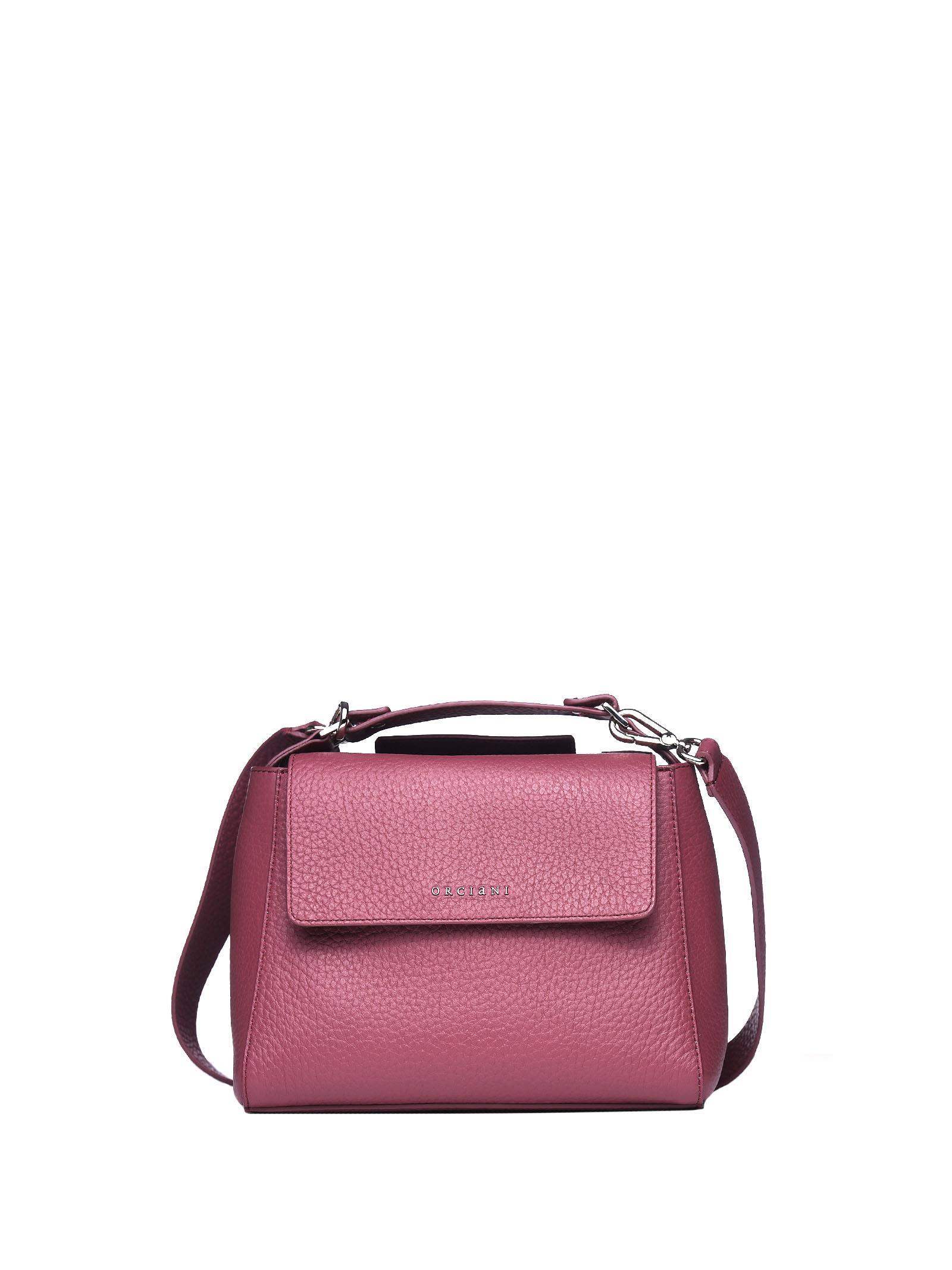 Orciani Sveva Small Leather Handbag In Terracotta  1ae137ce54e05