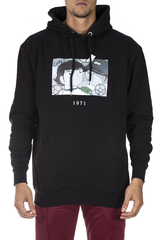 THROWBACK. Black Cotton Sweatshirt