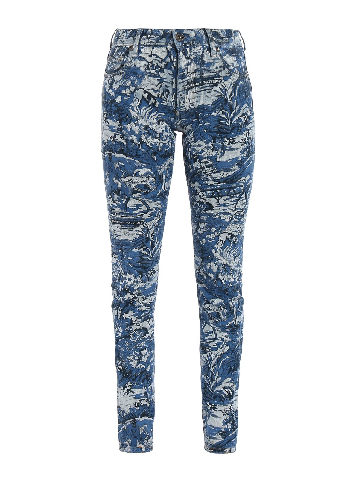 OFF-WHITE OFF-WHITE PRINTED DETAIL JEANS