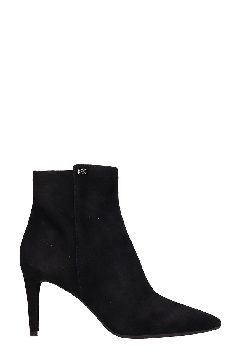 Michael Kors Black Suede Blaine Ankle Boots