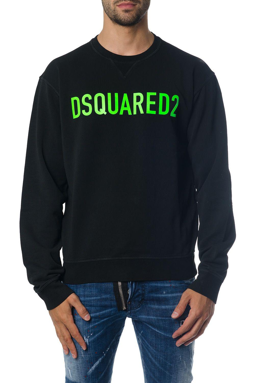 Dsquared2 Black Dsq2 Sweatshirt In Cotton
