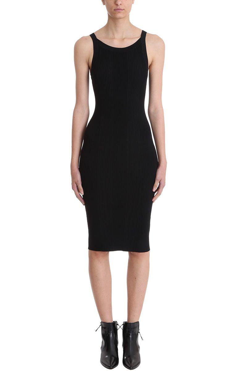T by Alexander Wang Visible Strap Knit Cutout Dress