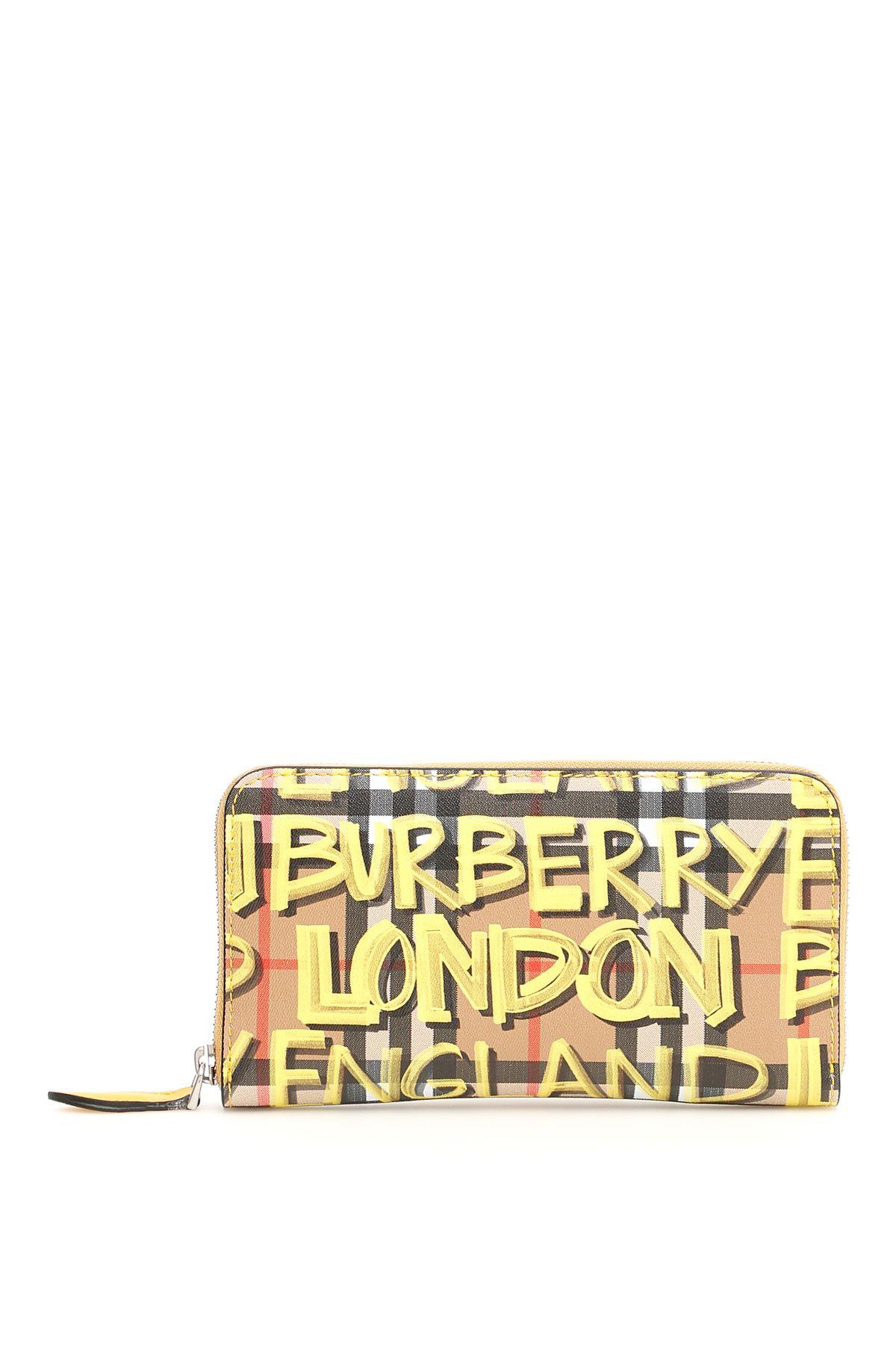 BURBERRY GRAFFITI ZIP-AROUND WALLET
