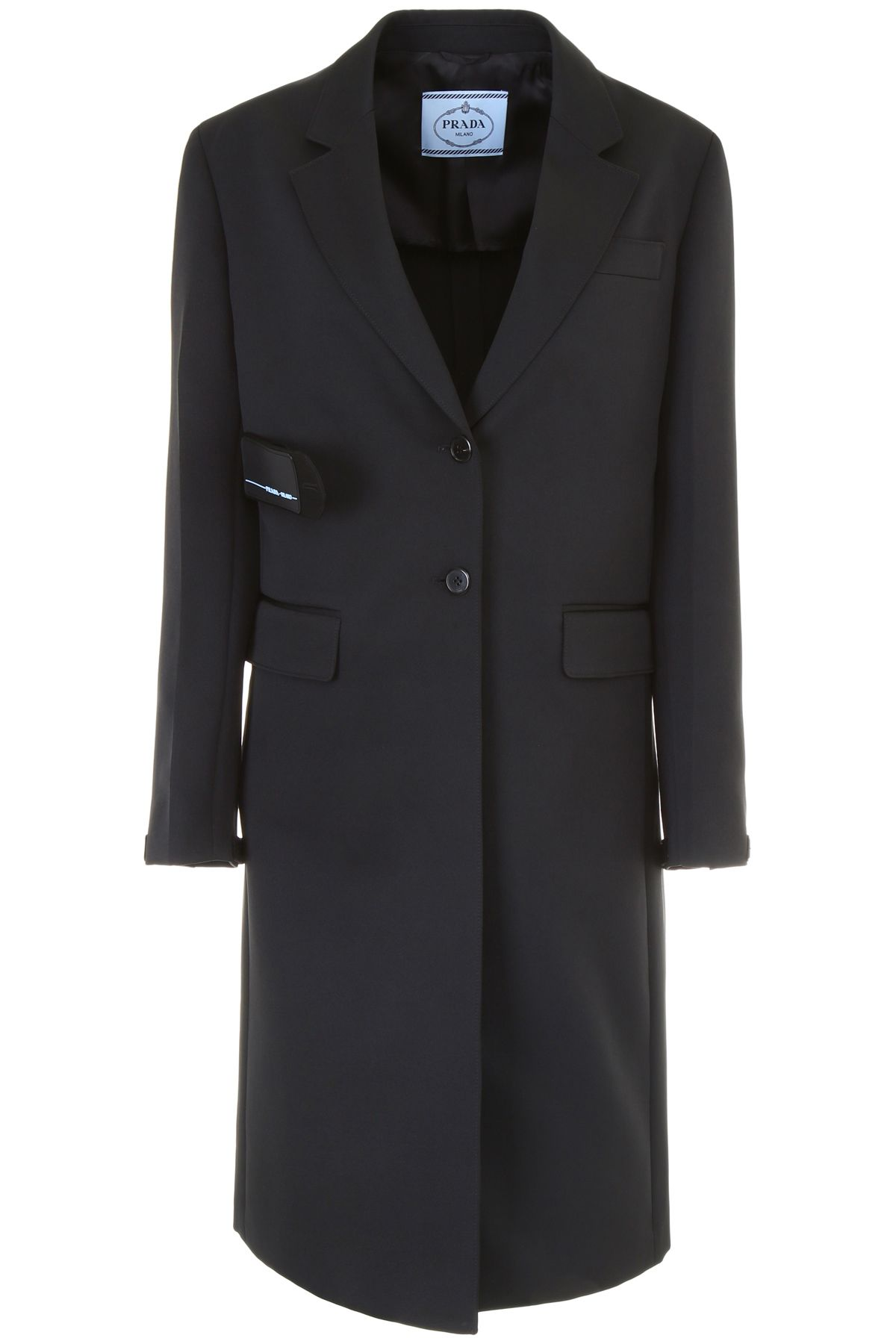 COAT WITH PATCH