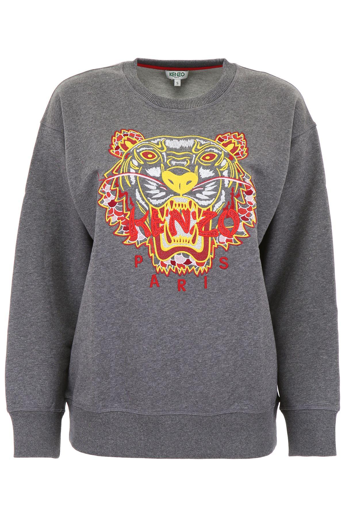 f5dc00f8d74 Kenzo Dragon Tiger Sweatshirt In Gris Fonce