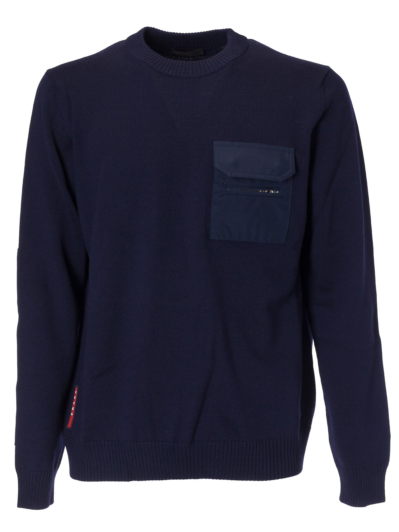 Prada Linea Rossa Chest Pocket Jumper