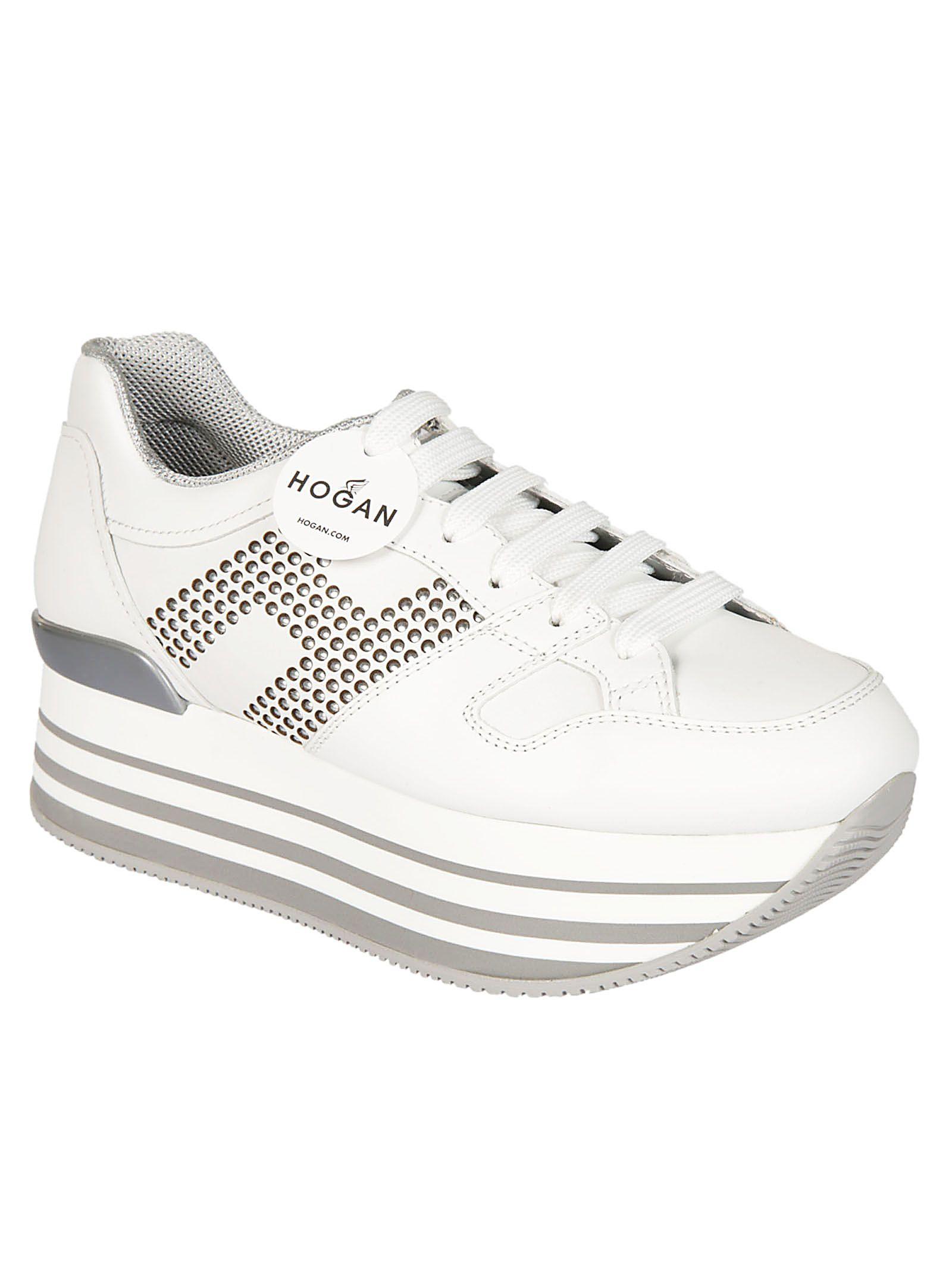 Cheap Sale 2018 New Designer Hogan Studded Logo Platform Sneakers Footaction Sale Online Outlet Low Shipping fjvciX