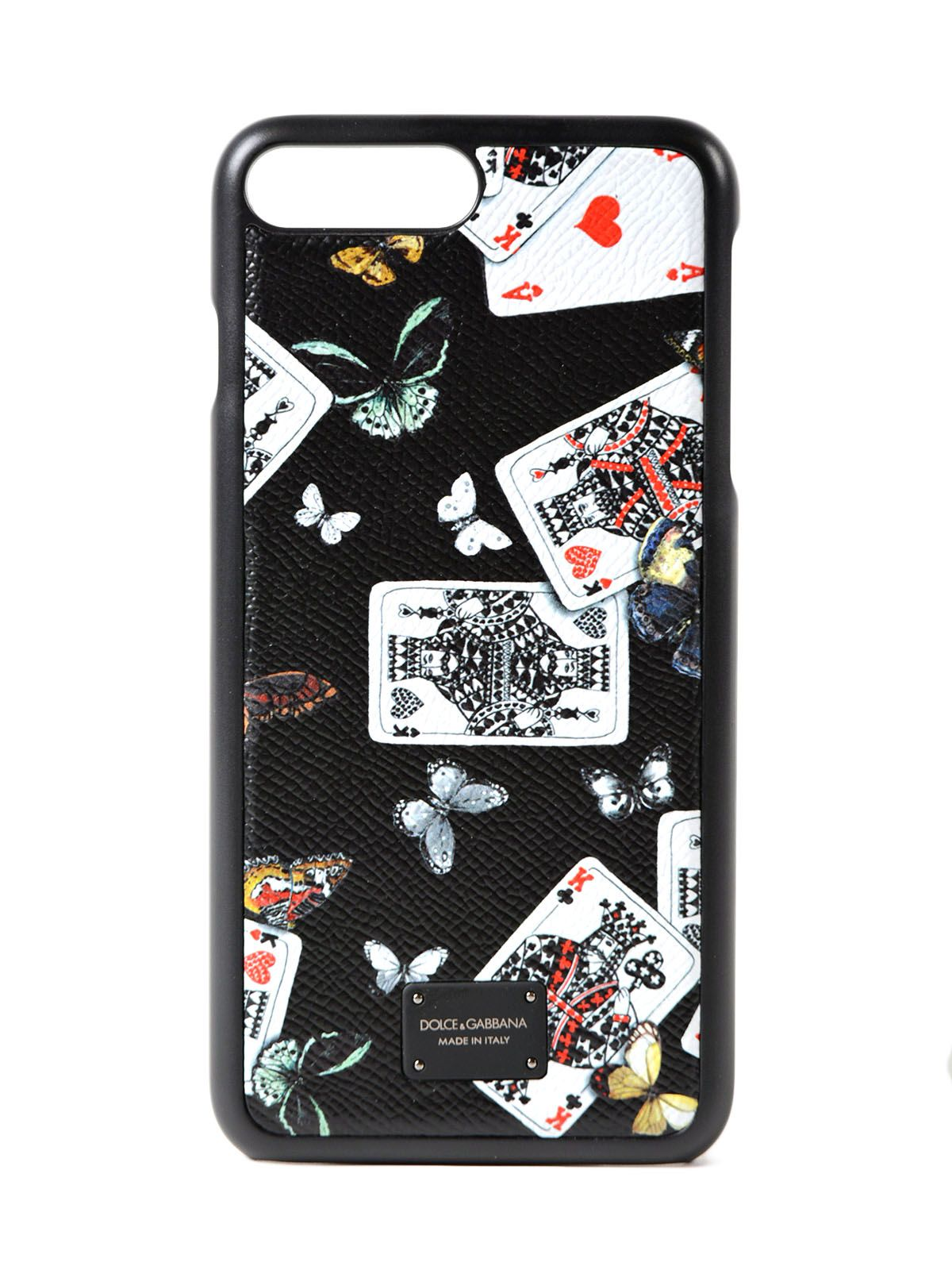 Dolce & Gabbana Phone Case 7 Plus Cards Butterfl. Prt 10497600