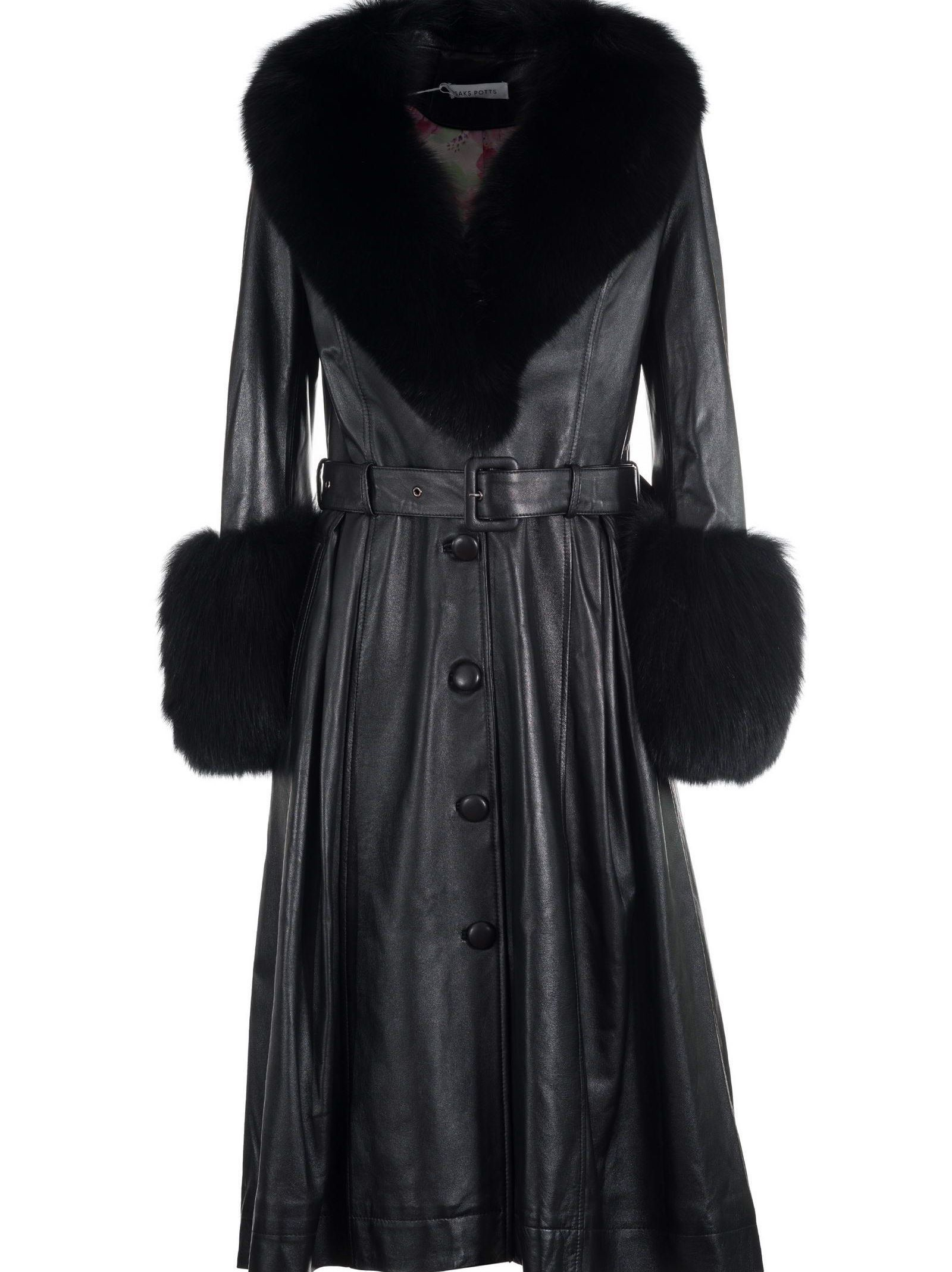 Saks Potts BELTED COAT