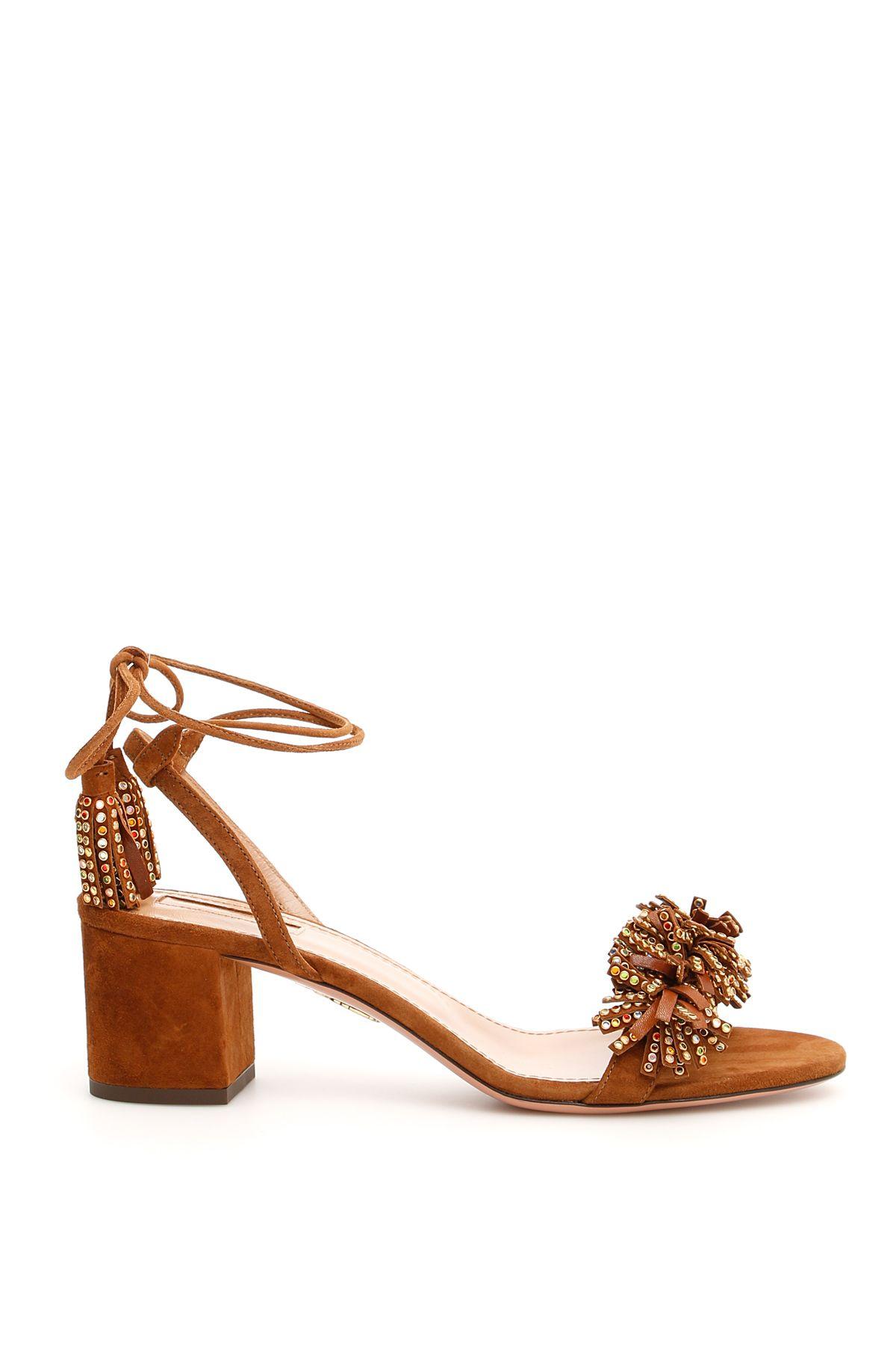 4b58ce79c Aquazzura Wild Crystal Sandals 50 In Cinnamon