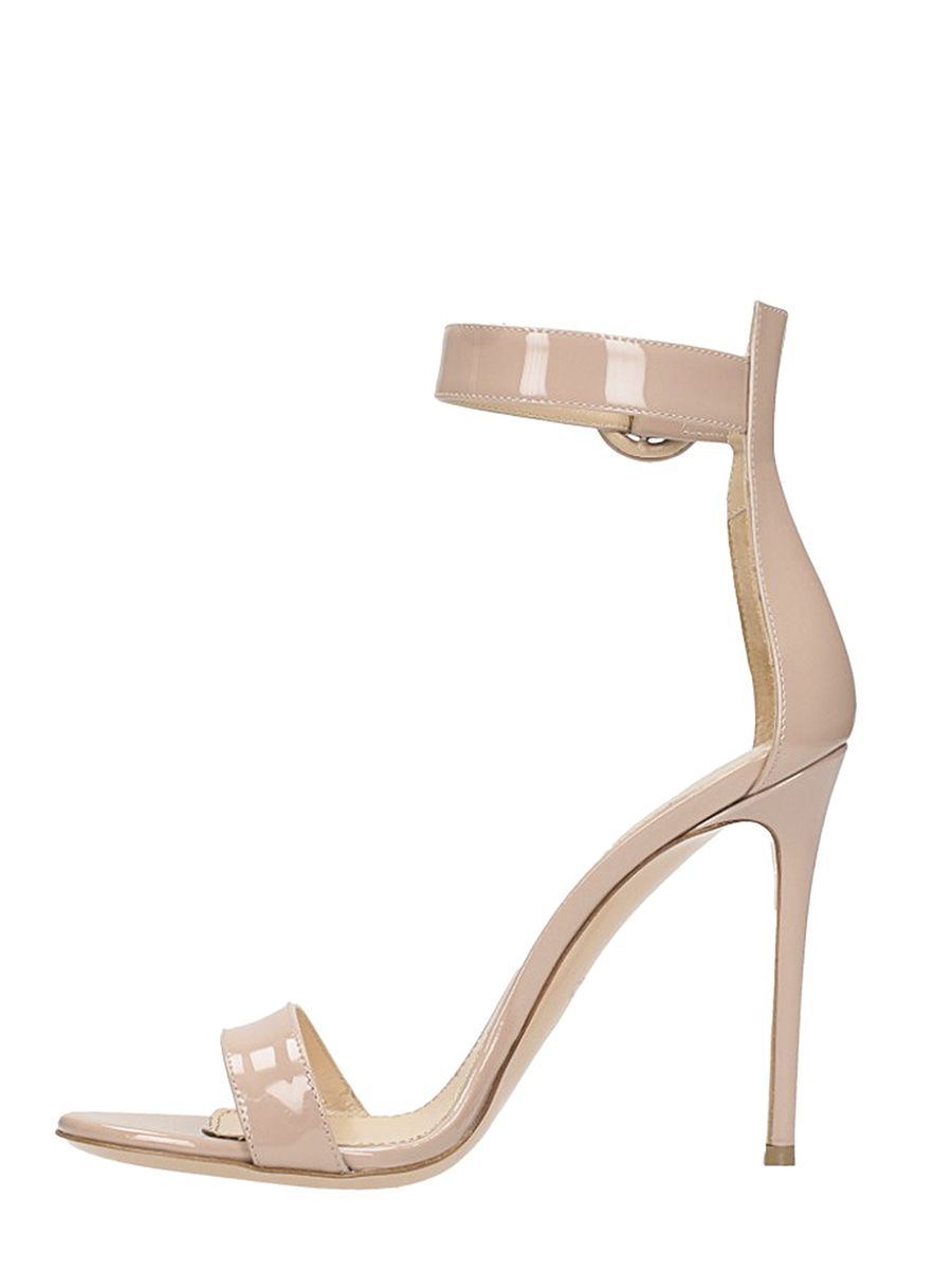LERRE Nude Patent Leather Sandals Clearance Collections Cheap Clearance 6IKNKPB3