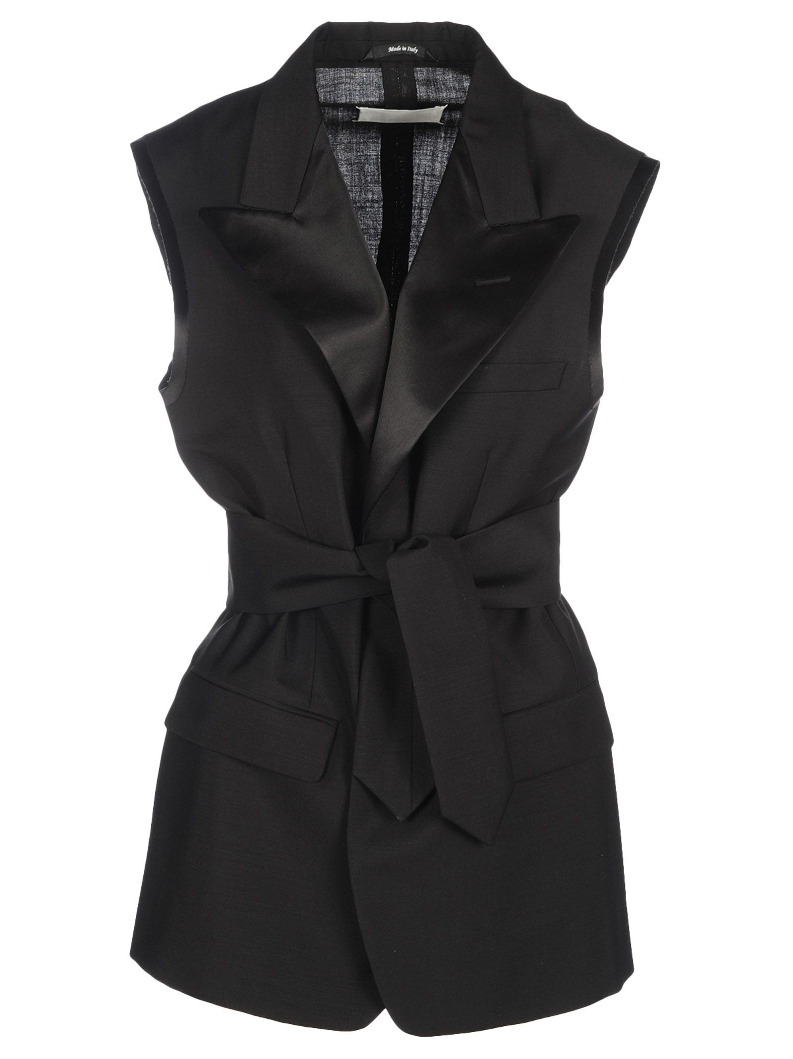 Top Quality Best Deals Mohair belted waistcoat - Black Maison Martin Margiela Discount Lowest Price Free Shipping 2018 New Sast Cheap Online d6ugM