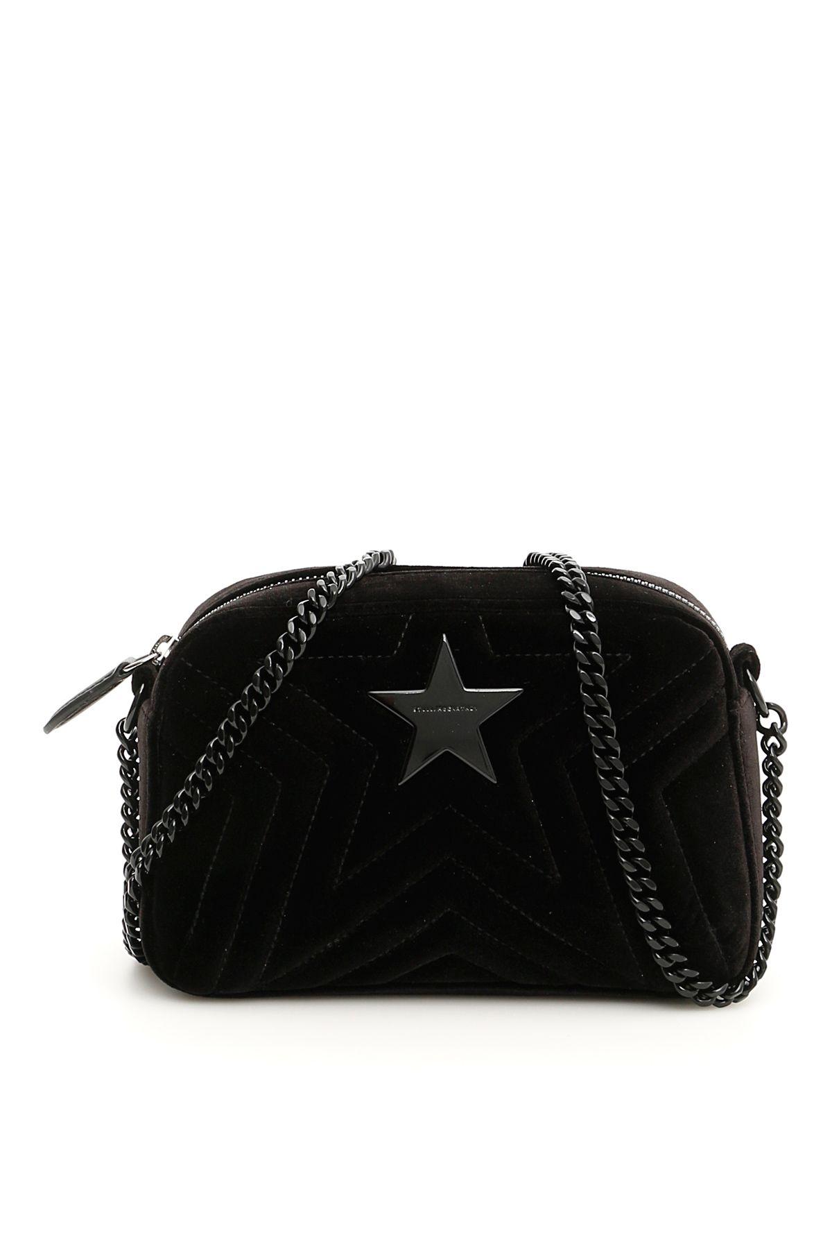 3540fb739d1 Stella Mccartney Quilted Velvet Stella Star Bag In Black   ModeSens