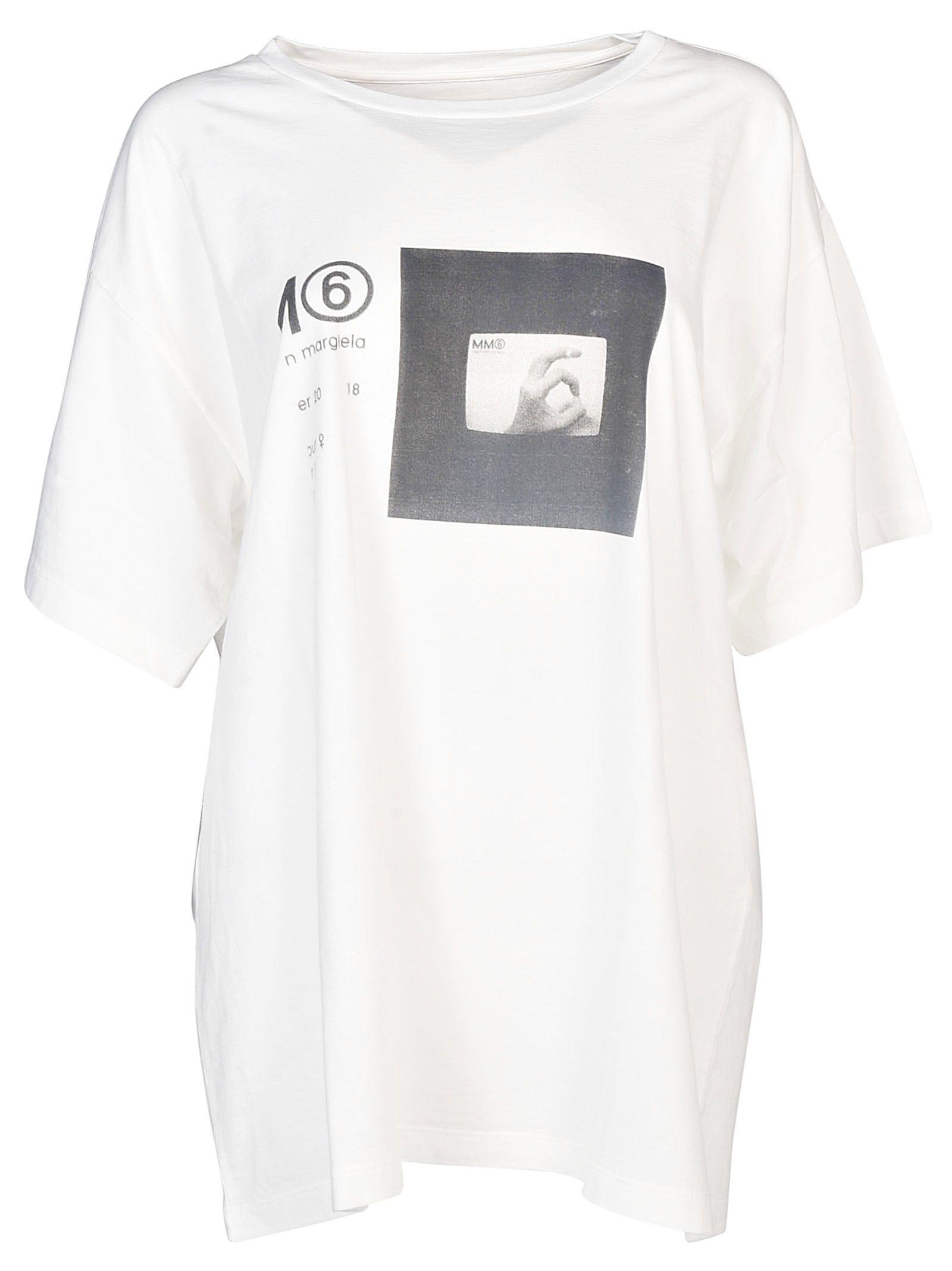 Mm6 Maison Margiela printed boxy-fit T-shirt Buy Cheap High Quality UQUNk1LC2u