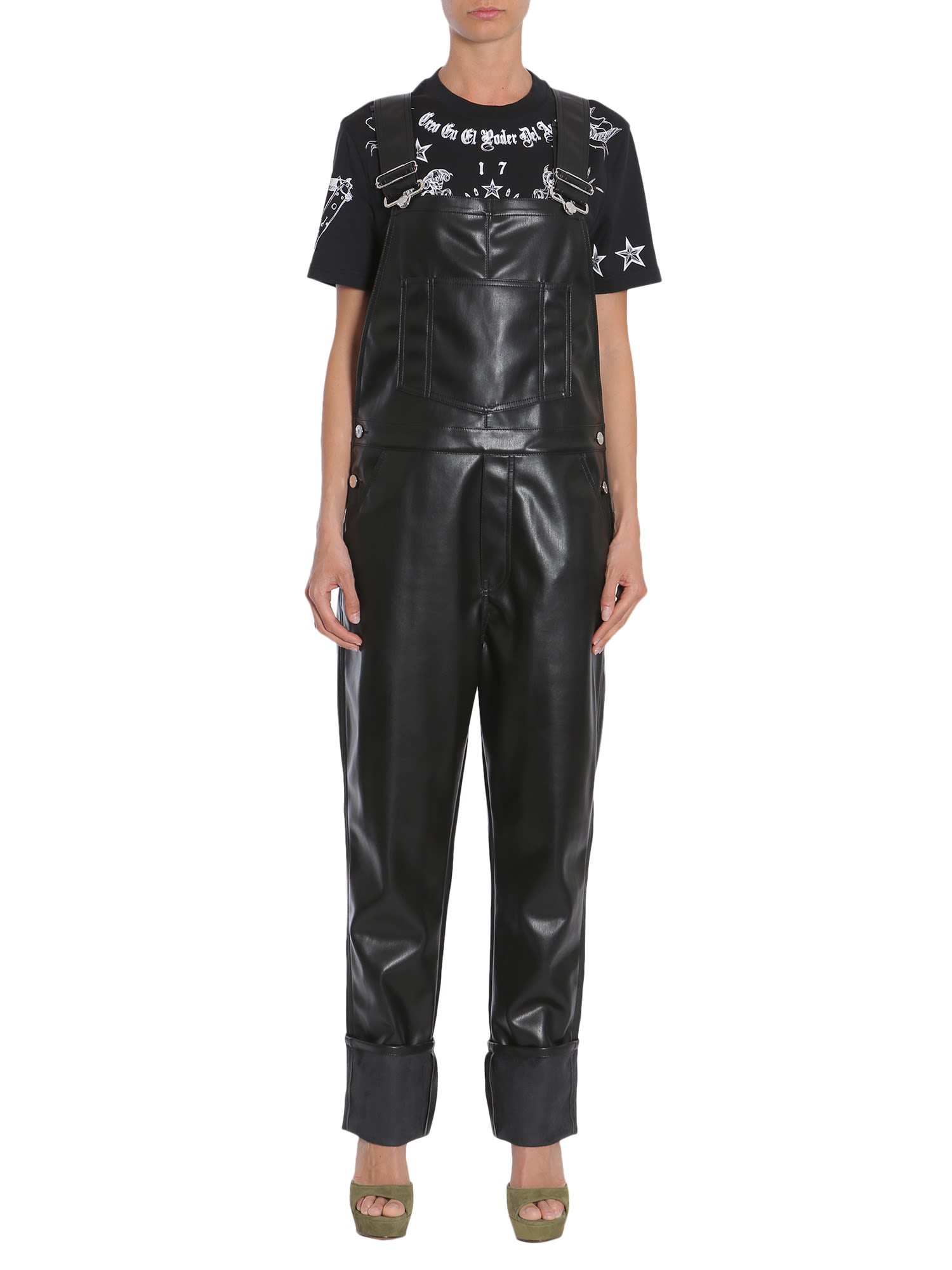 givenchy -  Eco Leather Dungarees