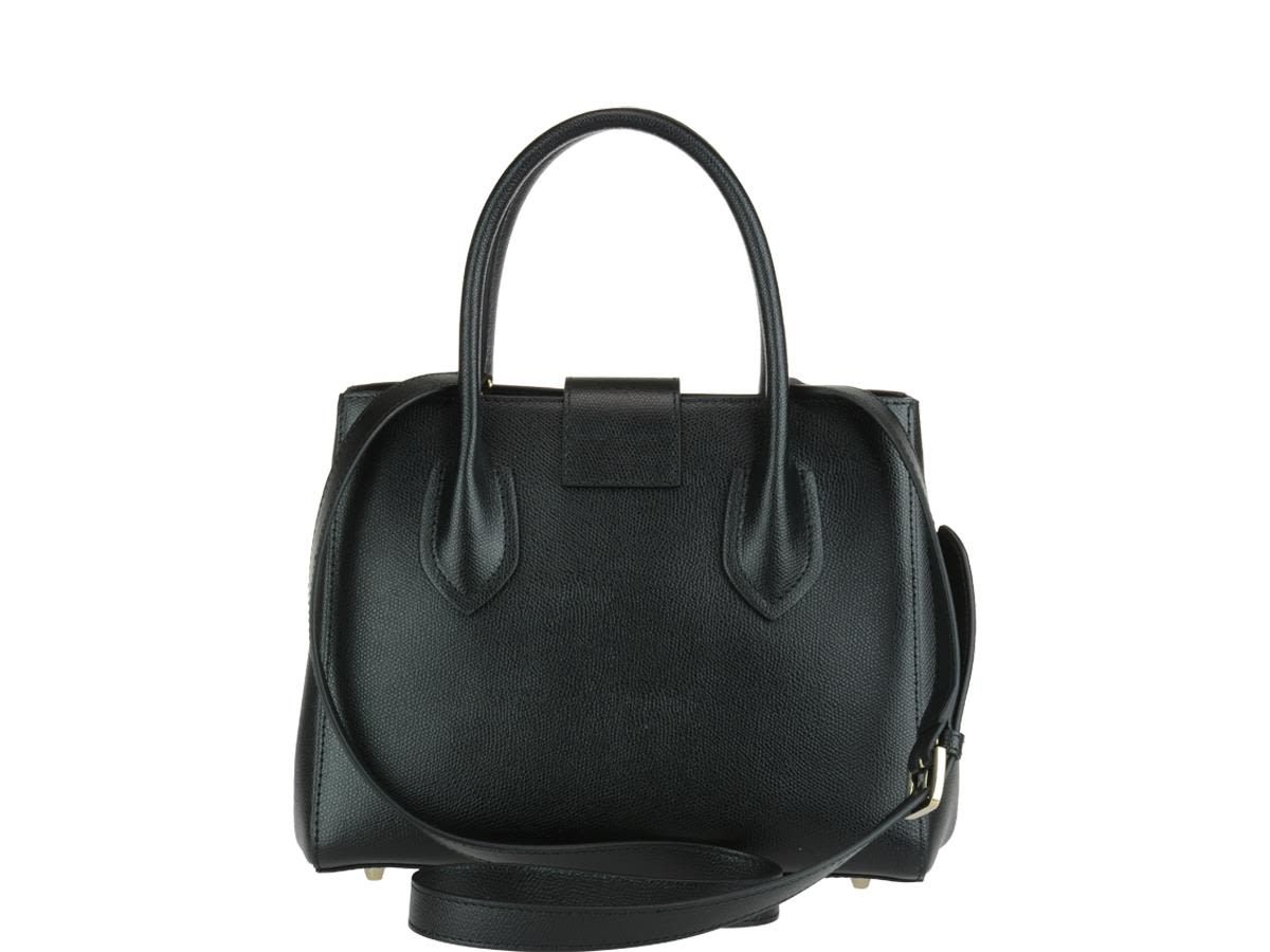 Metropolis Medium Tote Bag in Onyx Ares Leather Furla YFXqsRL
