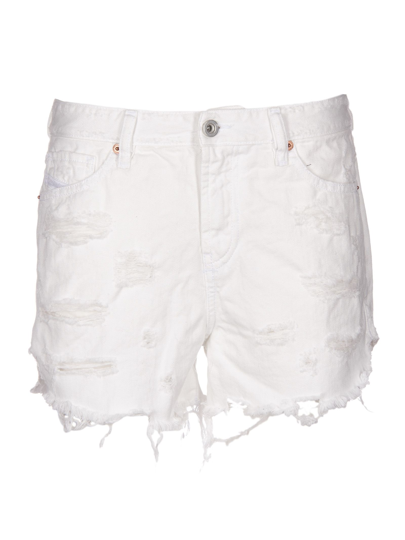distressed denim shorts - Black Diesel FN81ud1k6