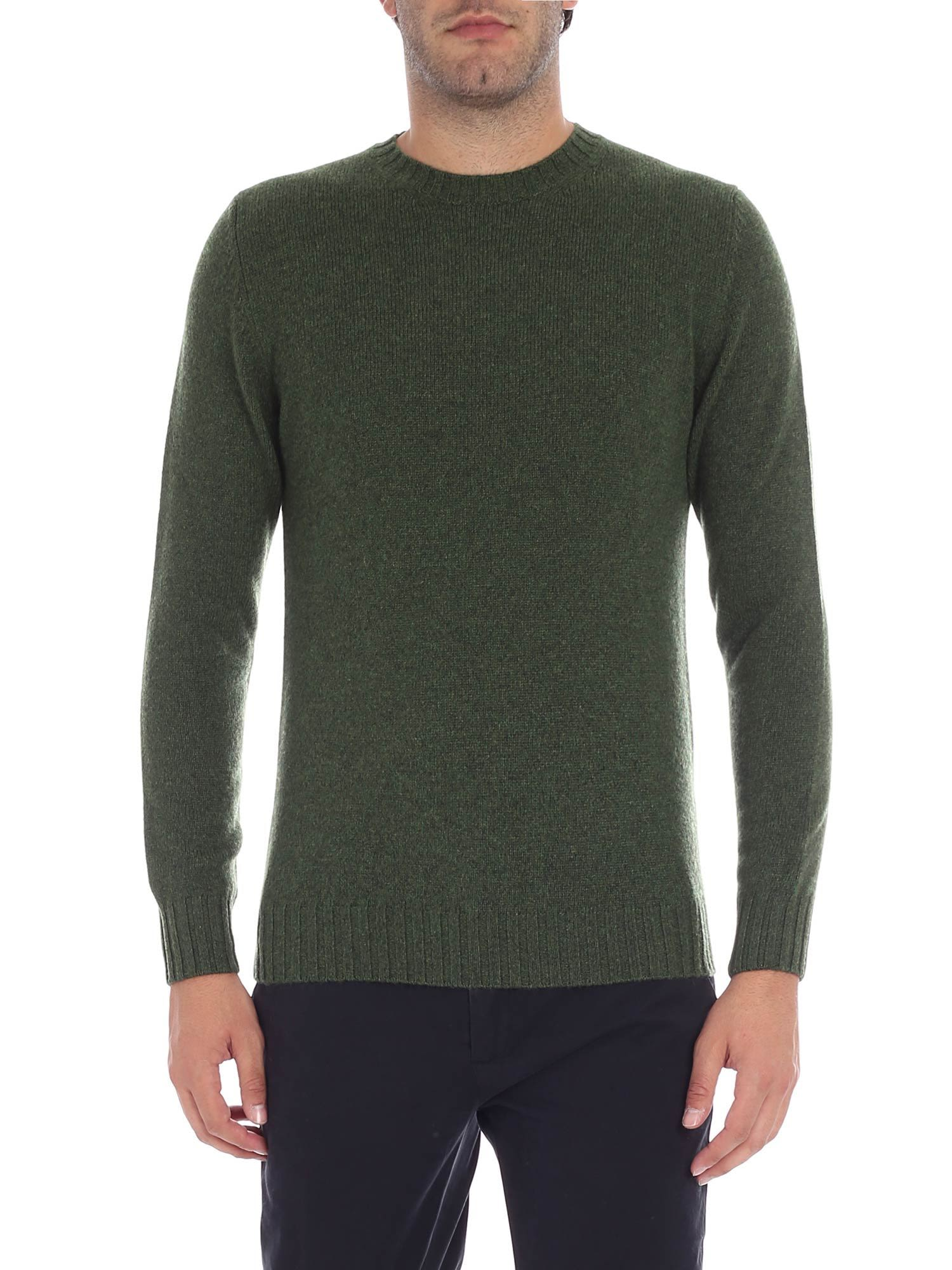 LUIGI BORRELLI Round Neck Sweater in Green