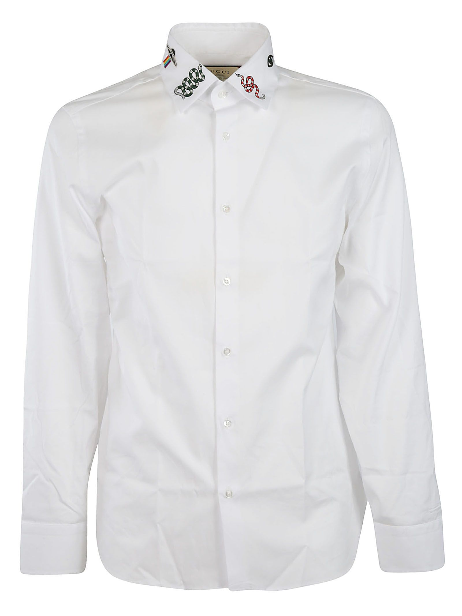 fefb060b942 italist | Best price in the market for Gucci Gucci Embroidered Shirt ...