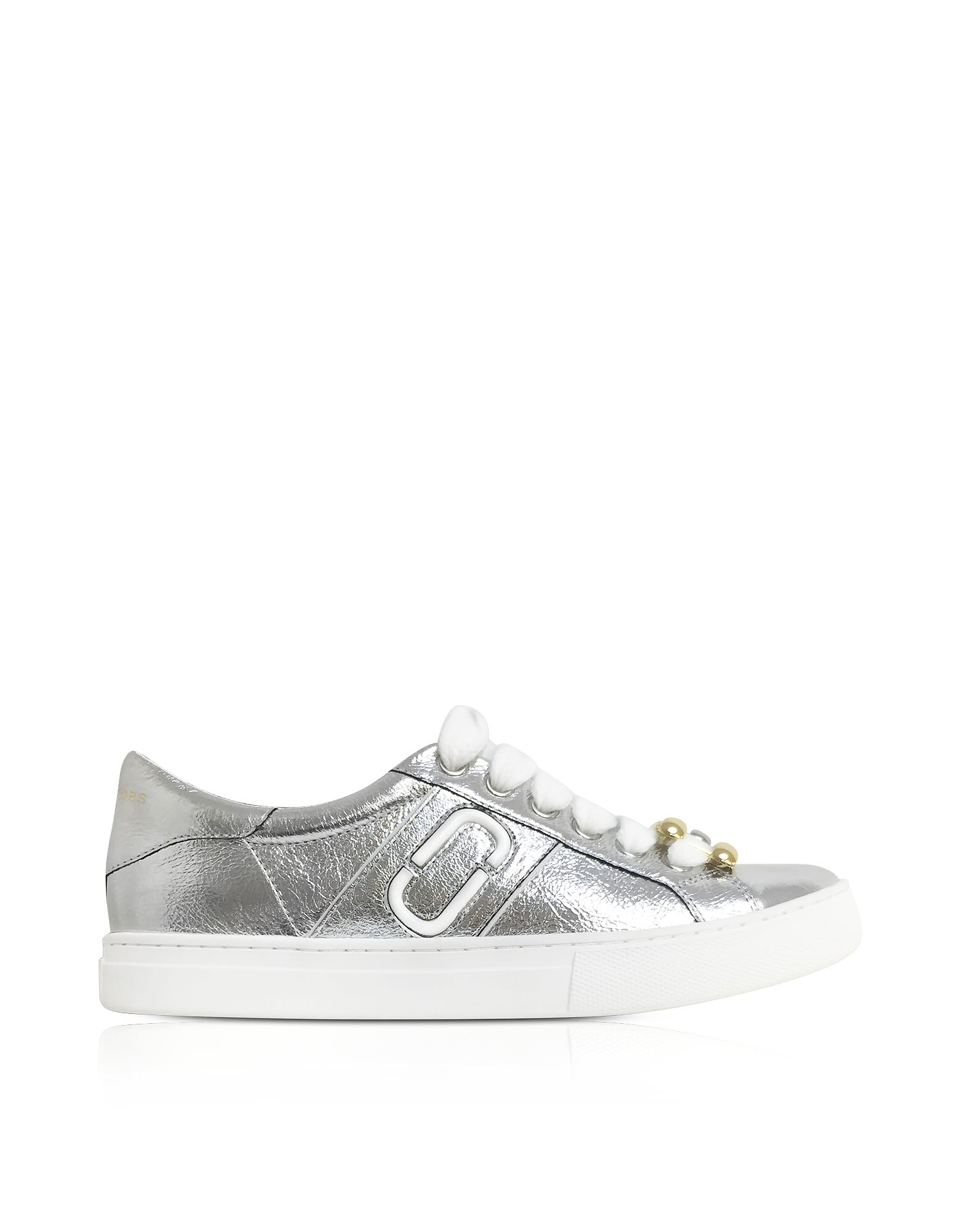The Empire metallic-leather low-top sneakers Marc Jacobs jkEtjFa