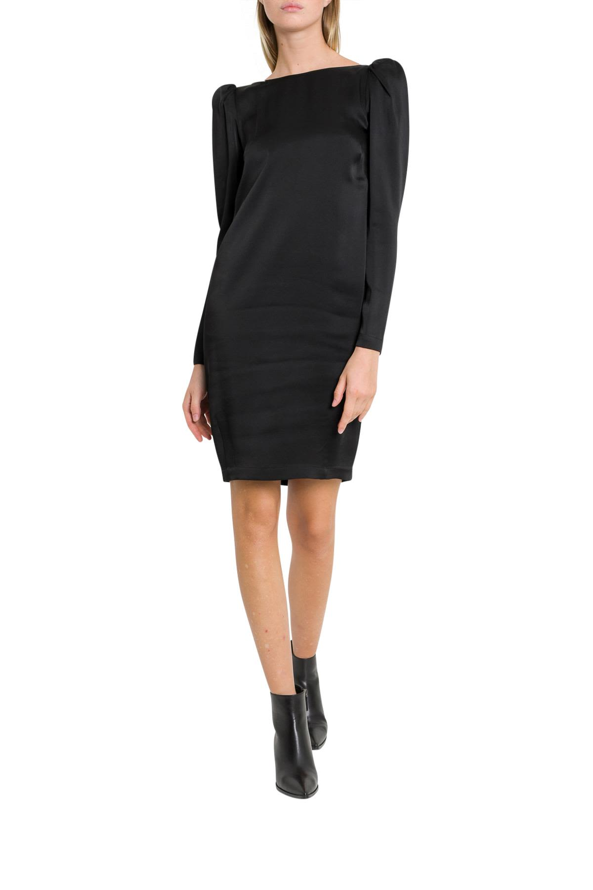 SEMICOUTURE Wright Dress With Shoulder Padded And Dipped Back