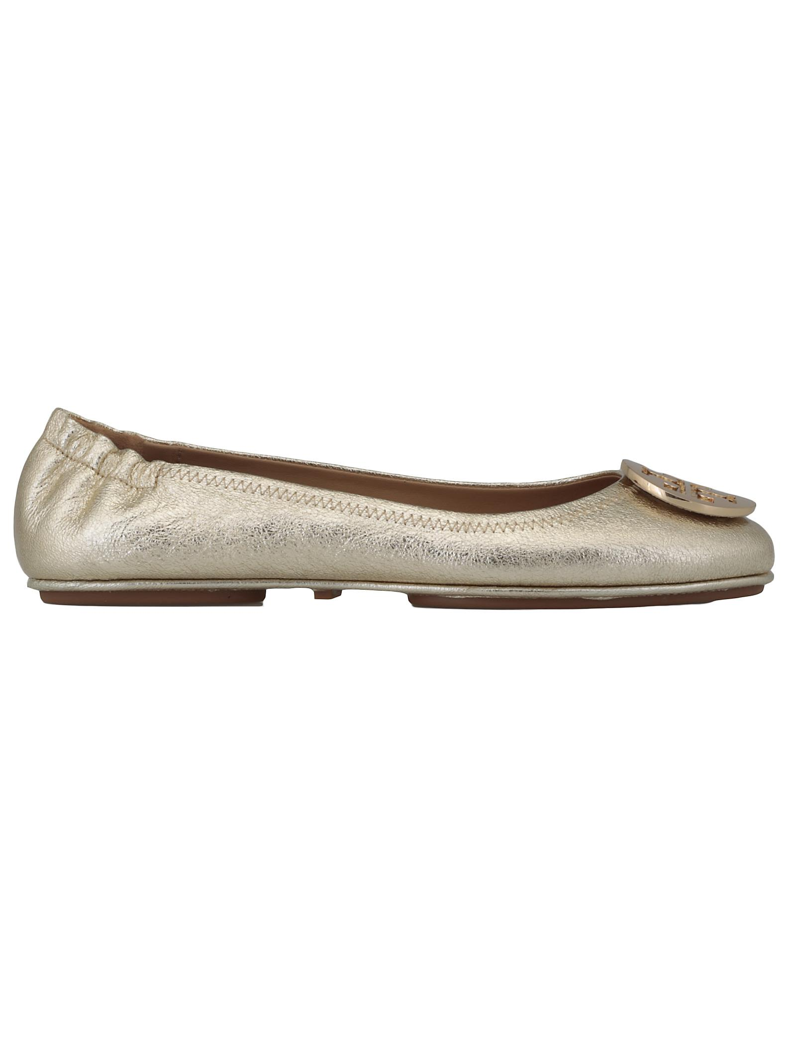 d4d9c4907c3504 Tory Burch Minnie Travel Ballet Flat In Spark Gold