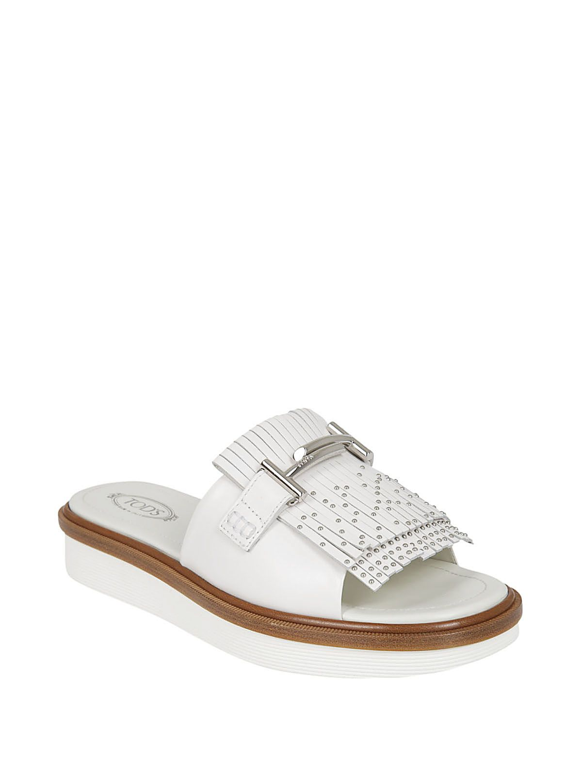Buy Cheap Visit New Store Sale Tod's Fringe Studs Sandals Cheap Many Kinds Of Outlet The Cheapest rFMPkm2NT