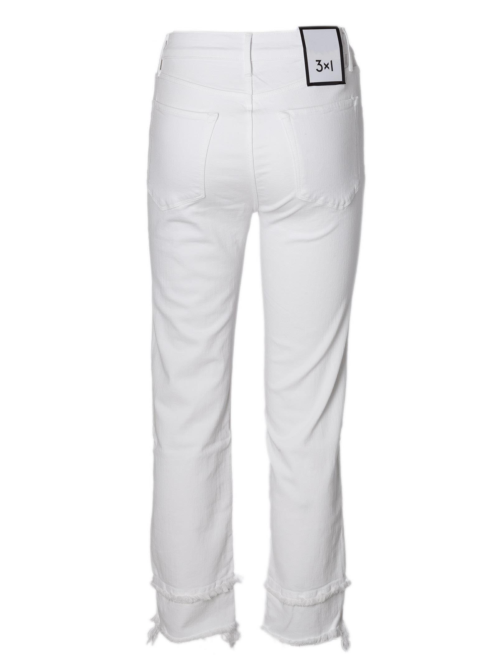 frayed trim jeans - White 3x1 8iMJXrg